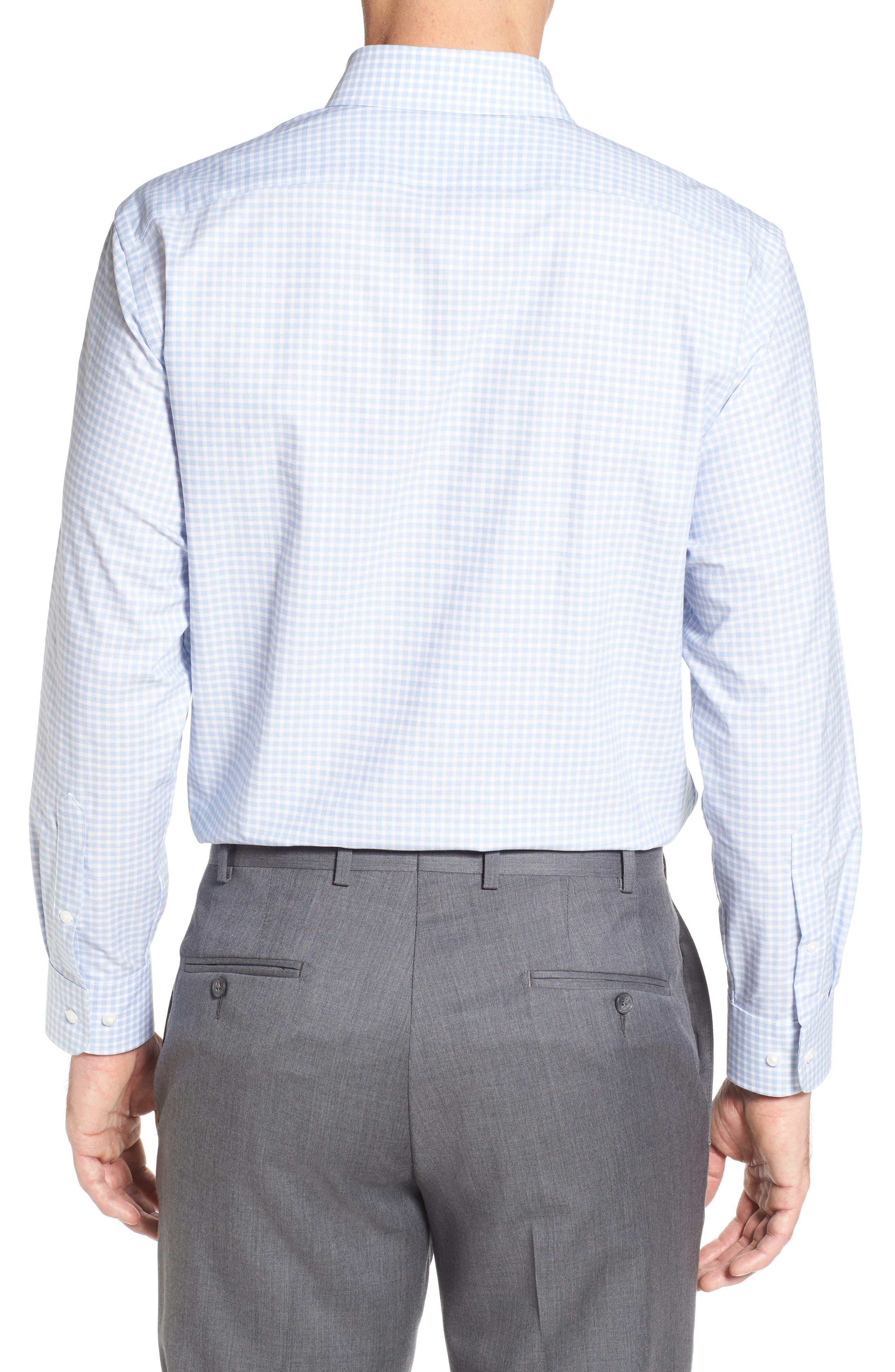 Alternate Image 2  - Nordstrom Men's Shop Tech-Smart Traditional Fit Stretch Check Dress Shirt