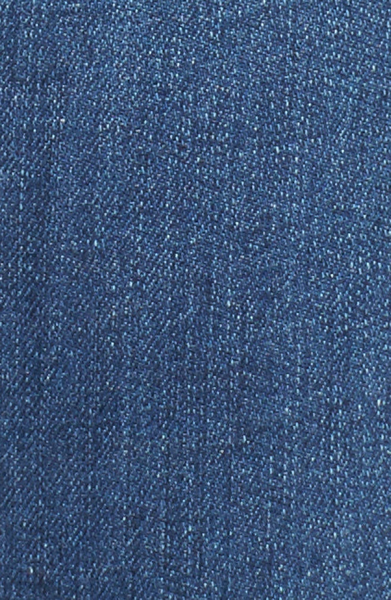 Prima Crop Skinny Jeans,                             Alternate thumbnail 5, color,                             Indigo Viking