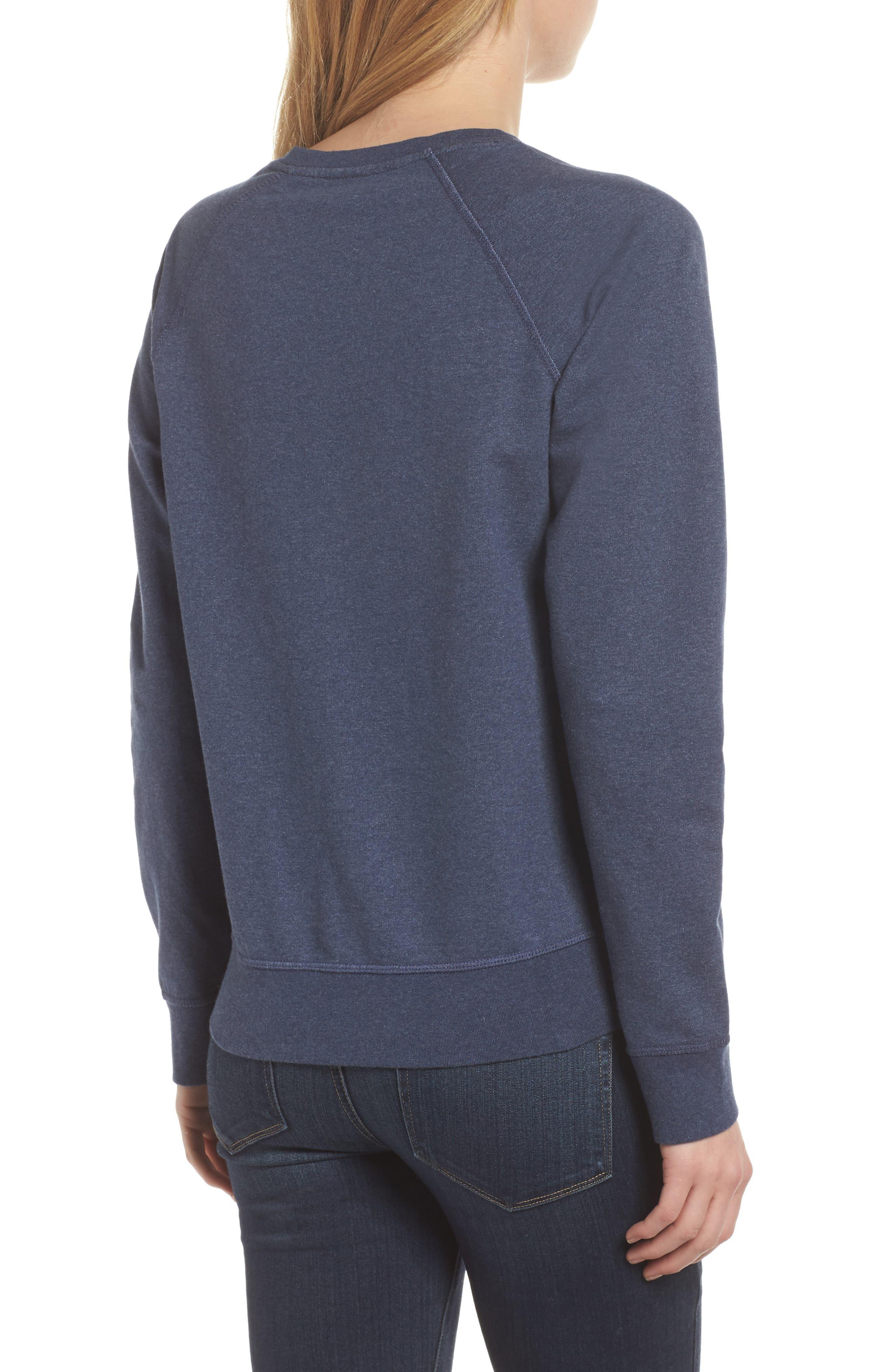 Pastel P-6 Label Midweight Sweatshirt,                             Alternate thumbnail 2, color,                             Classic Navy
