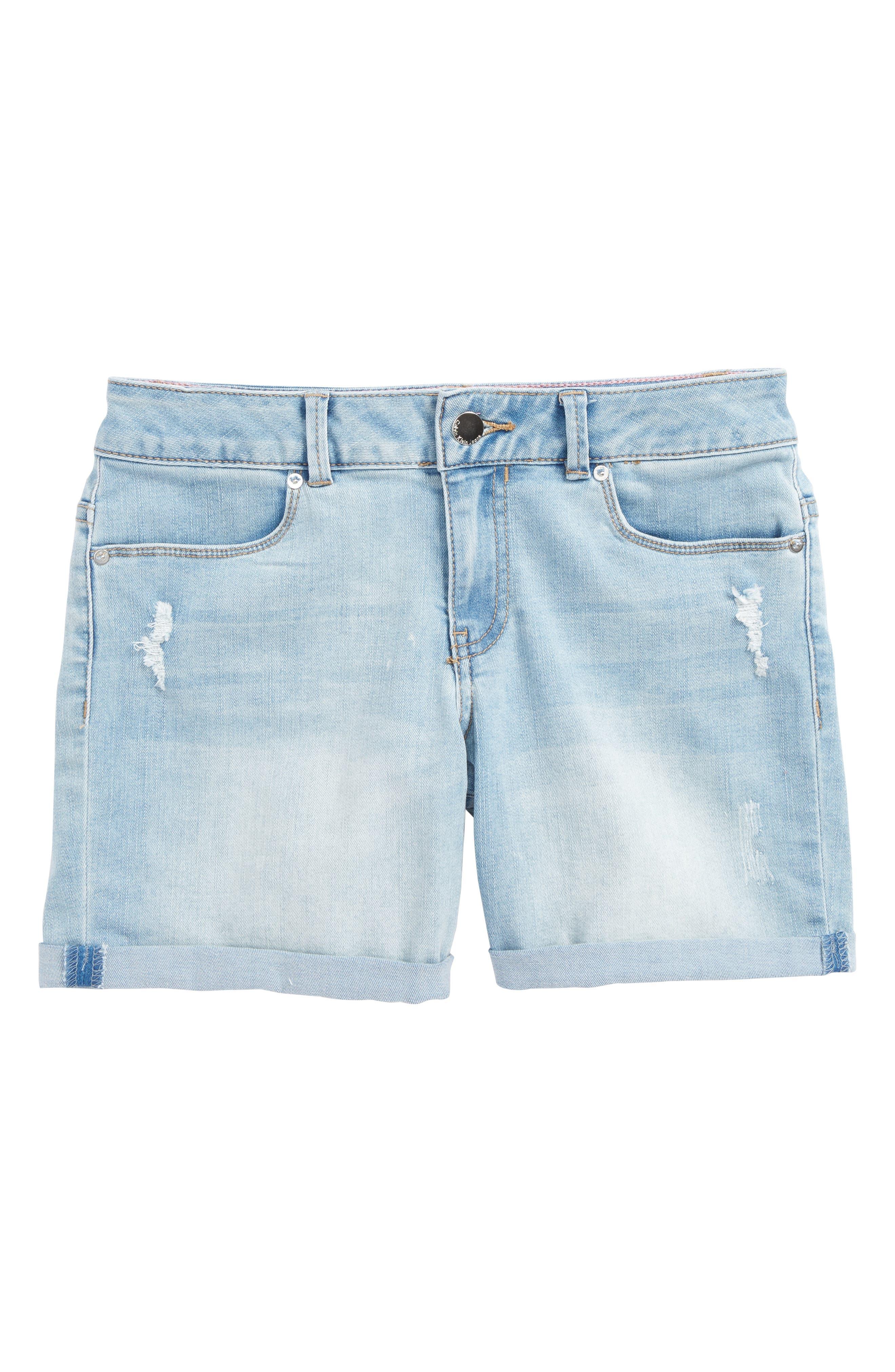 Alternate Image 1 Selected - Calvin Klein Bermuda Shorts (Big Girls)