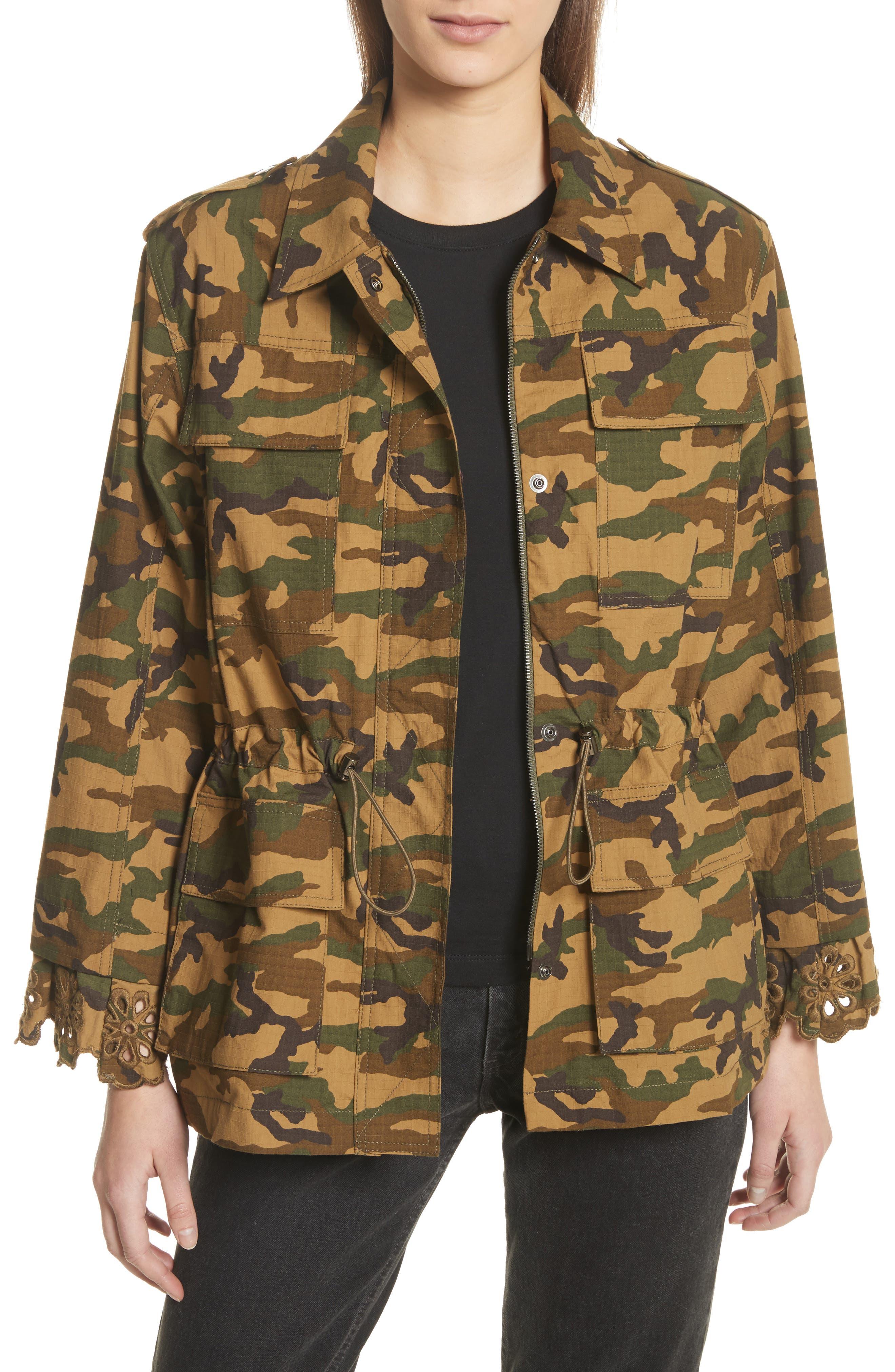 Sea Carina Camouflage Eyelet Cuff Jacket