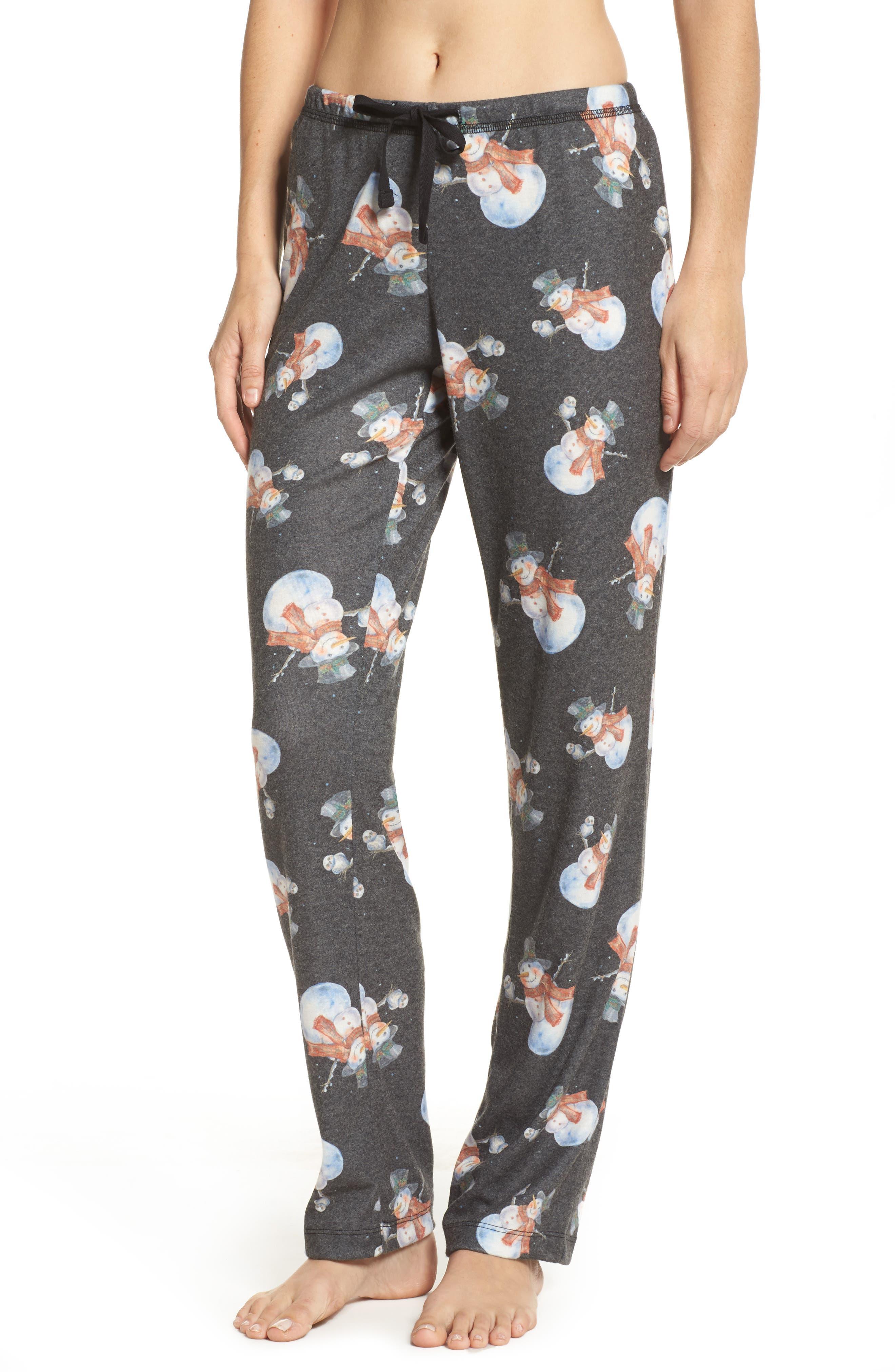 Emma Flannel Pajama Pants,                             Main thumbnail 1, color,                             Grey