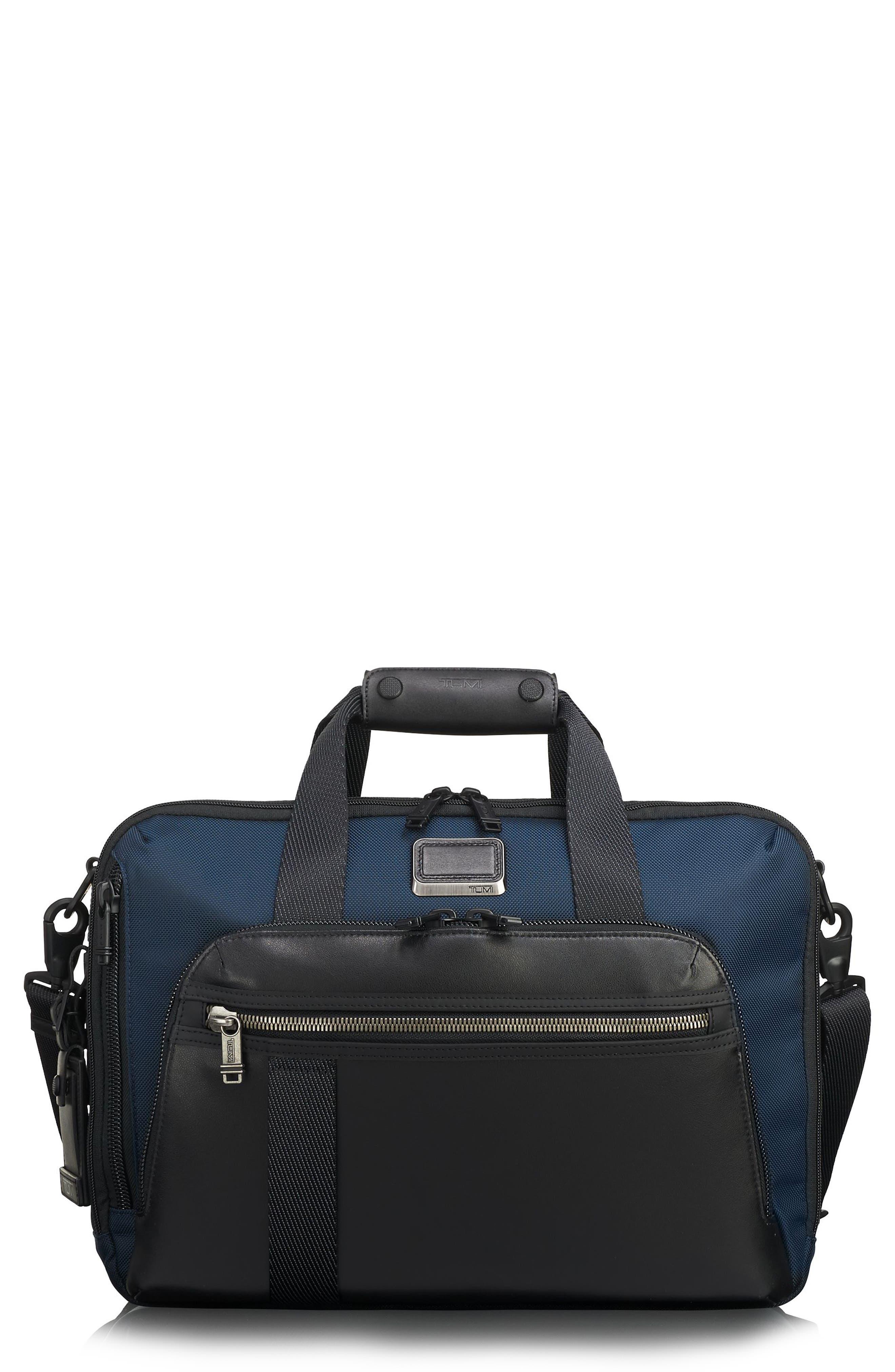 Alpha Bravo Mountain Convertible 3-Way Briefcase,                         Main,                         color, Navy