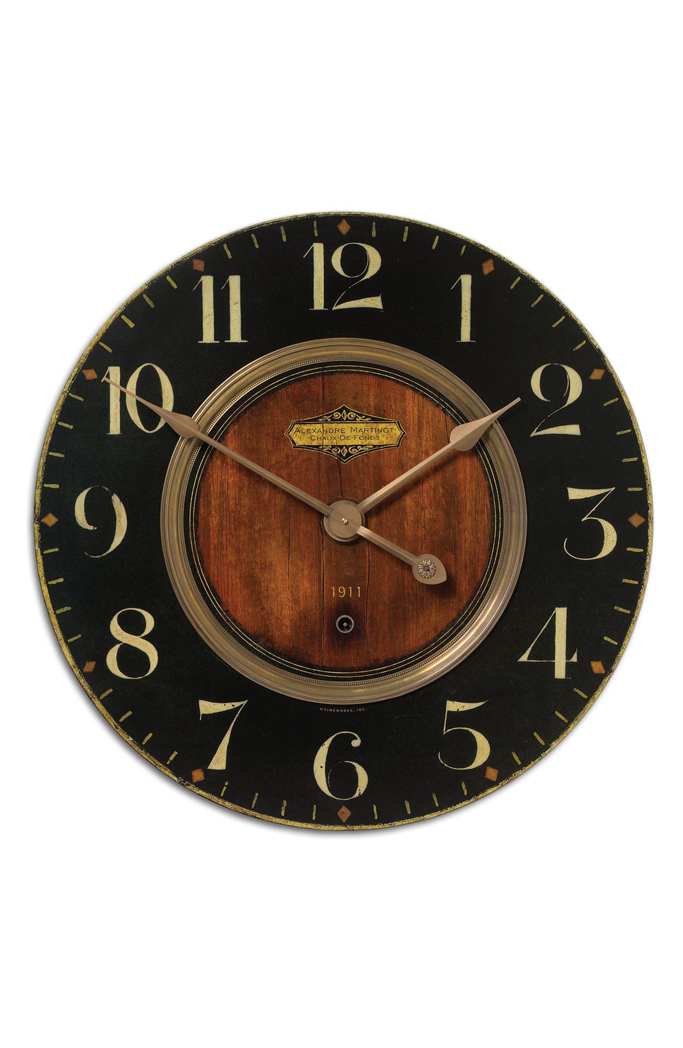 Alexandre Martinot Wall Clock,                         Main,                         color, Metallic Rust/ Copper