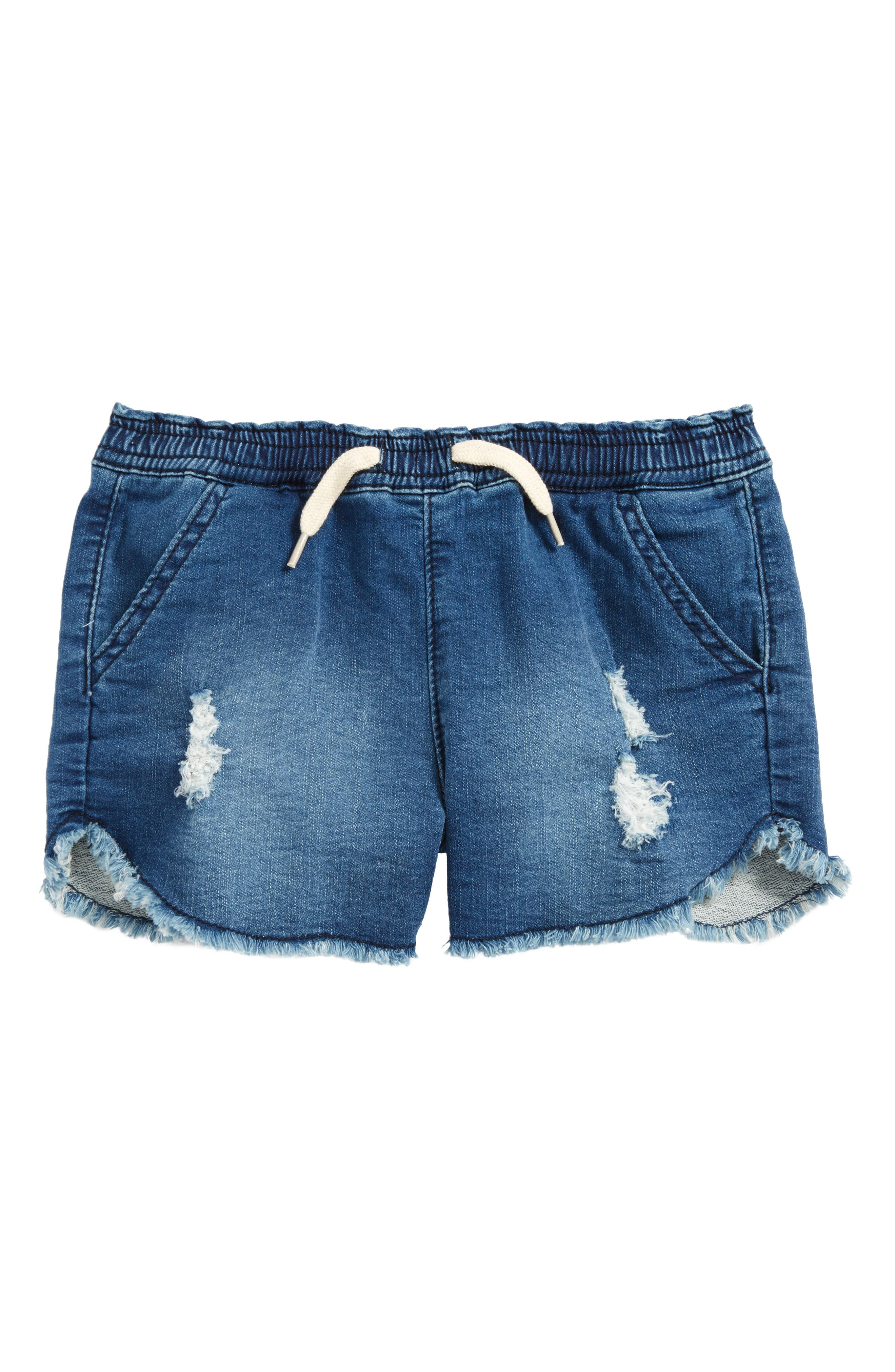 Katie French Terry Shorts,                         Main,                         color, Depth Charge
