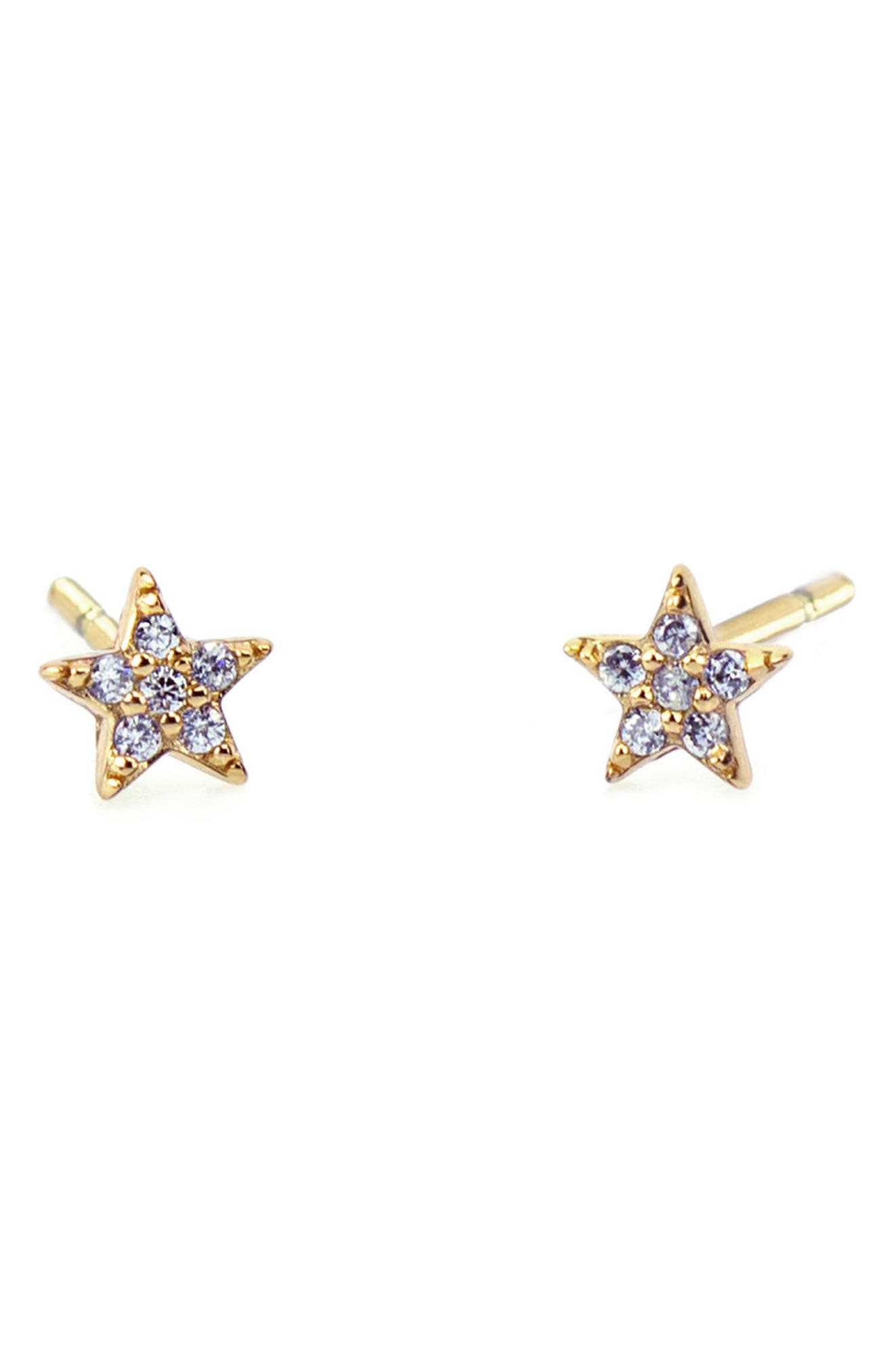 Alternate Image 1 Selected - Kris Nations Pavé Star Stud Earrings