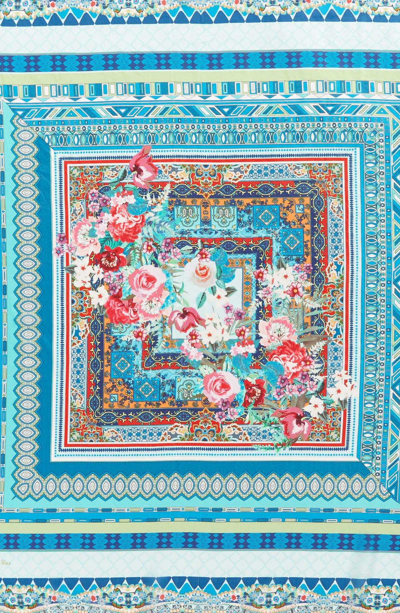 Boutique Tassel Silk Square Scarf,                             Alternate thumbnail 4, color,                             Multi