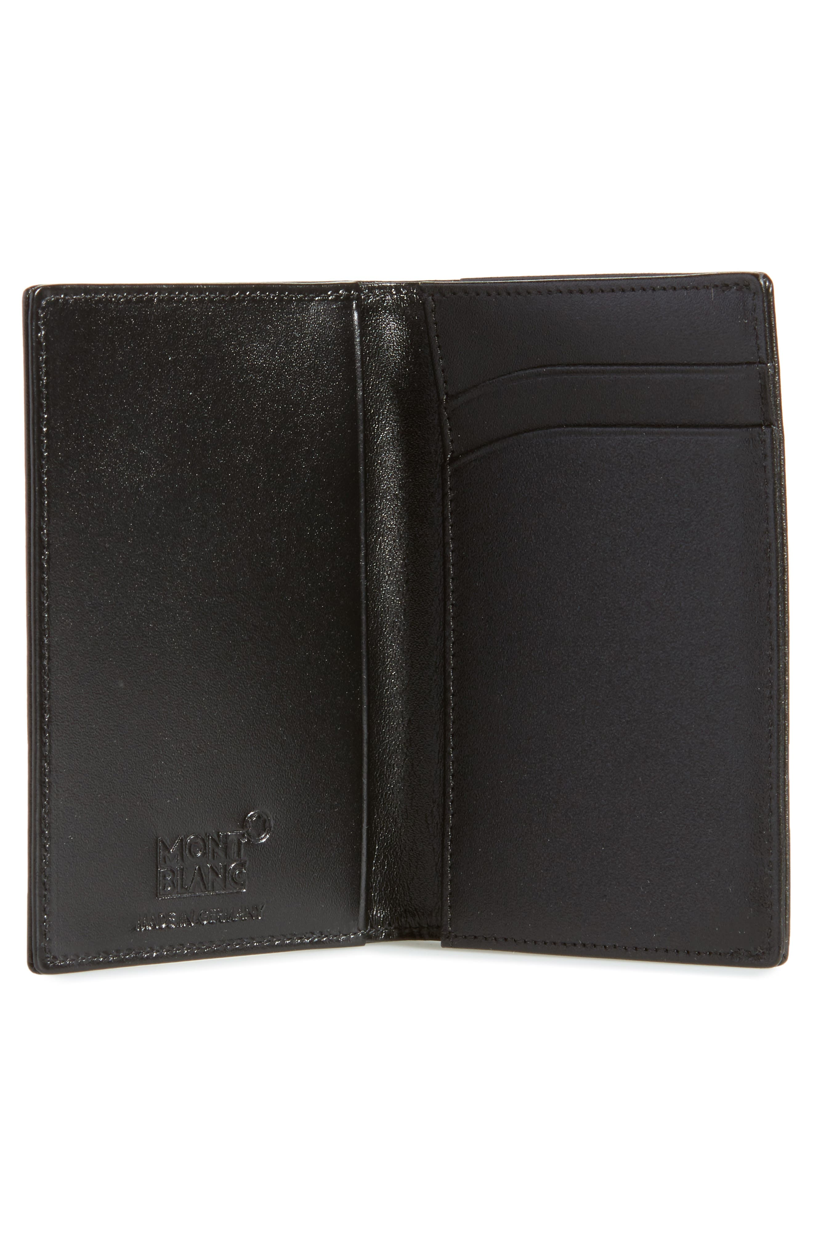 Meisterstück Leather Card Case,                             Alternate thumbnail 2, color,                             Black