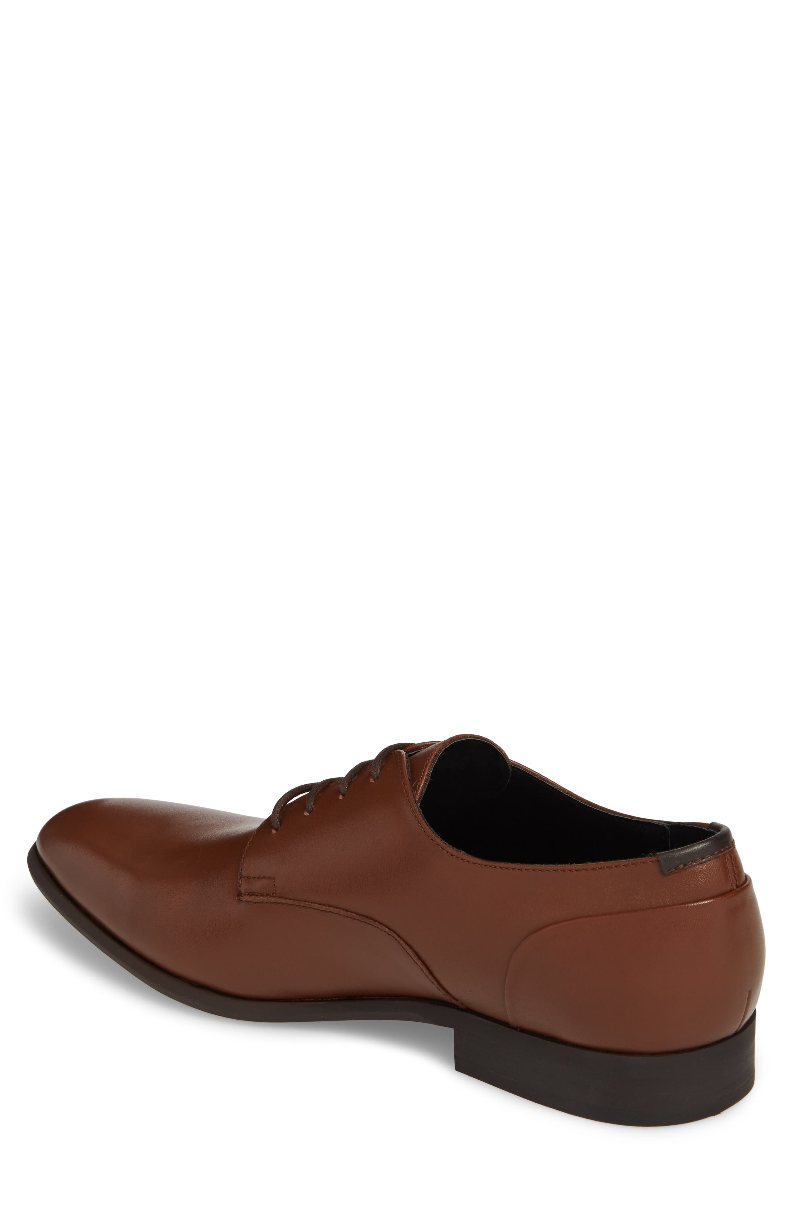 Lucca Plain Toe Derby,                             Alternate thumbnail 2, color,                             Tan Leather