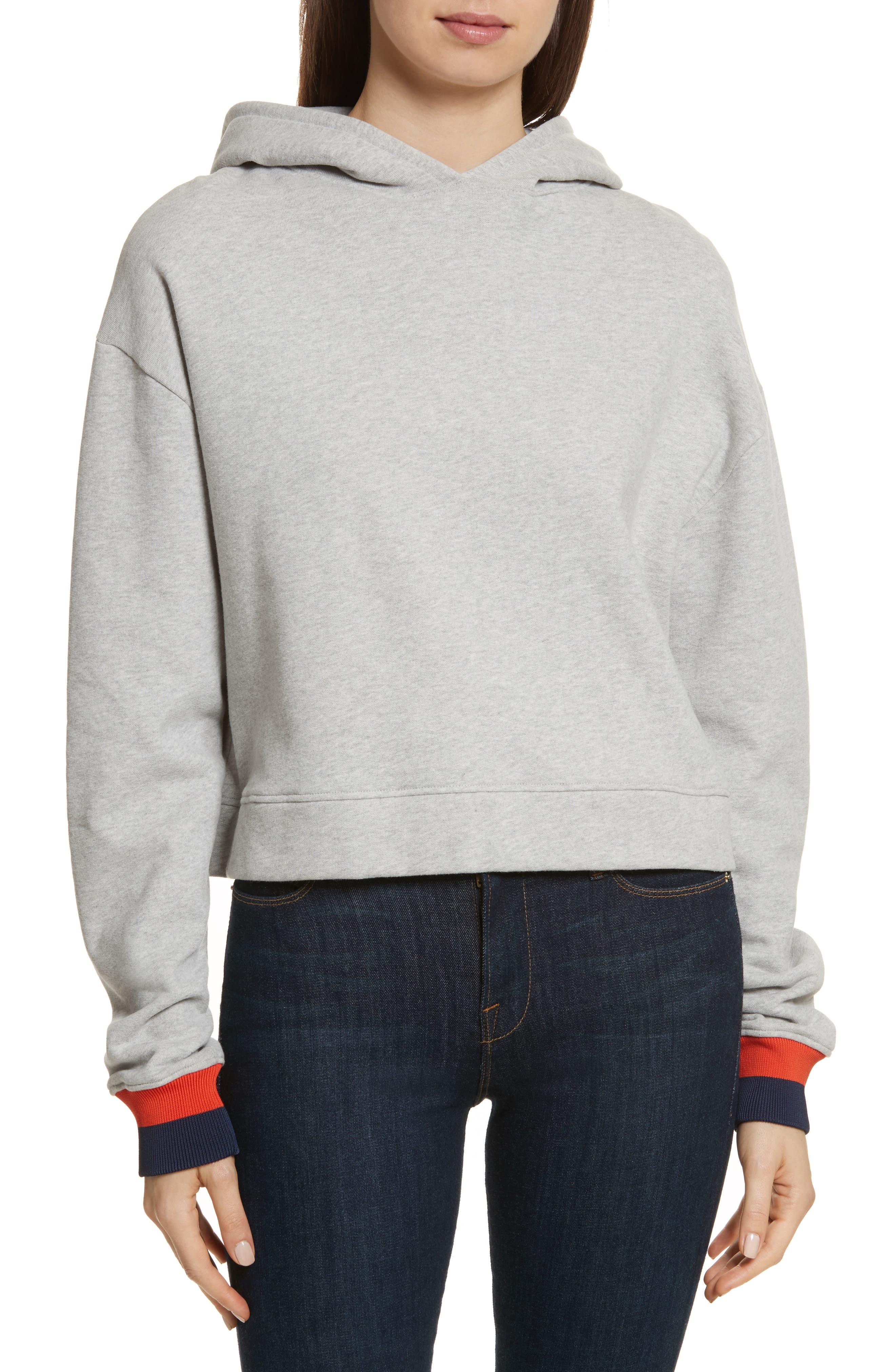 The Crosby Hooded Sweatshirt,                         Main,                         color, Grey/ Navy/ Poppy
