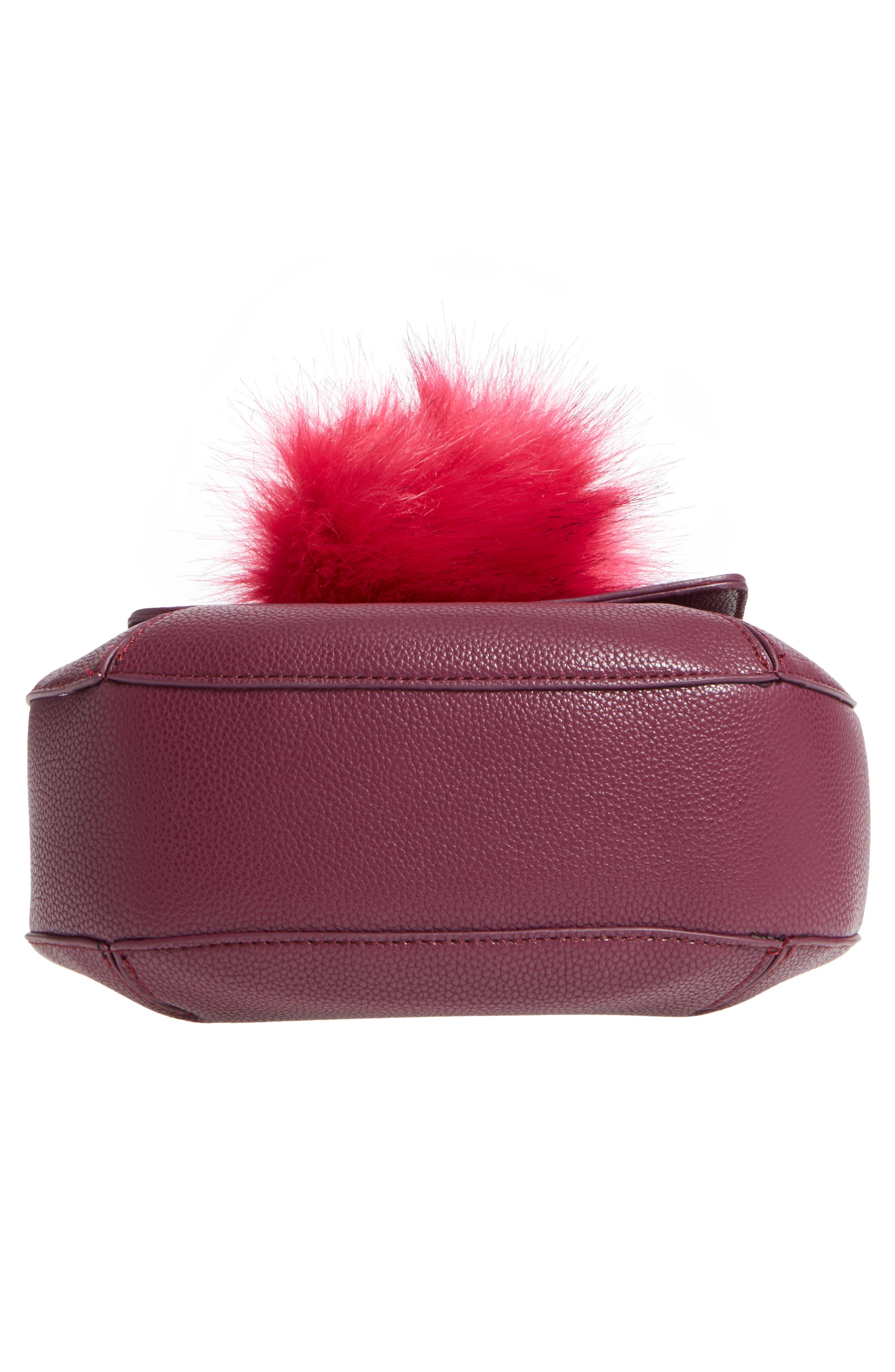 Isa Faux Leather Crossbody Bag,                             Alternate thumbnail 6, color,                             Berry Sweet/ Boysenberry