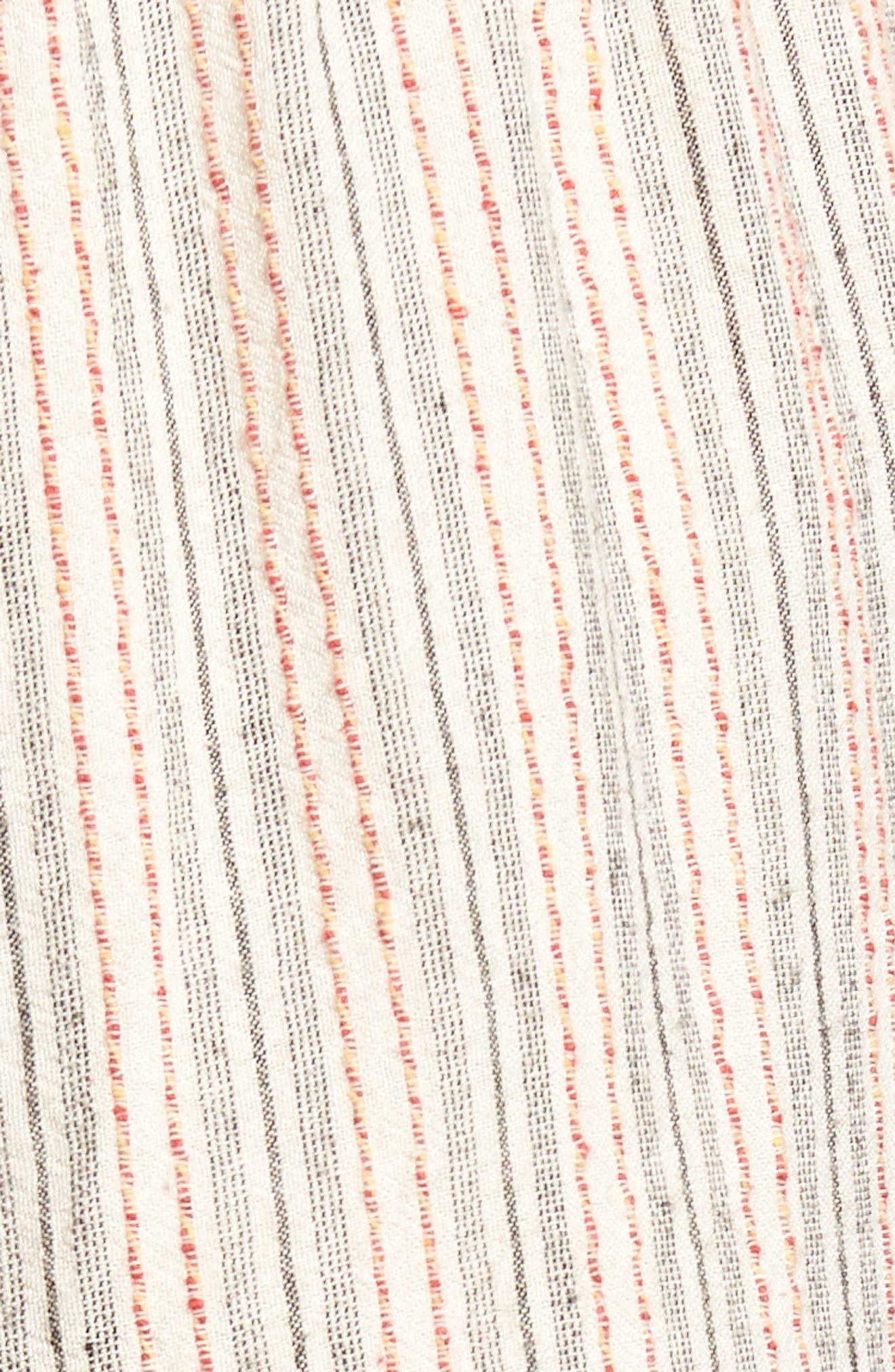 Stripe Lace-Up Jumpsuit,                             Alternate thumbnail 6, color,                             Grey Stripe