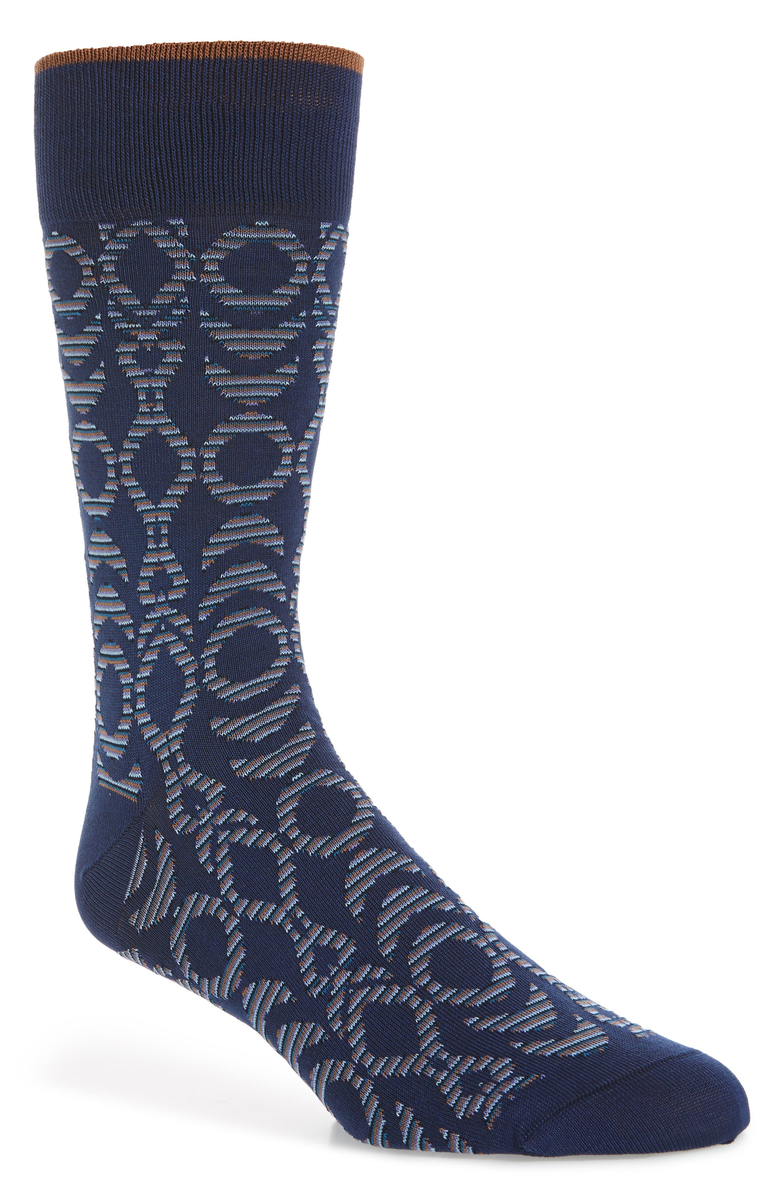 Main Image - Bugatchi Geometric Socks