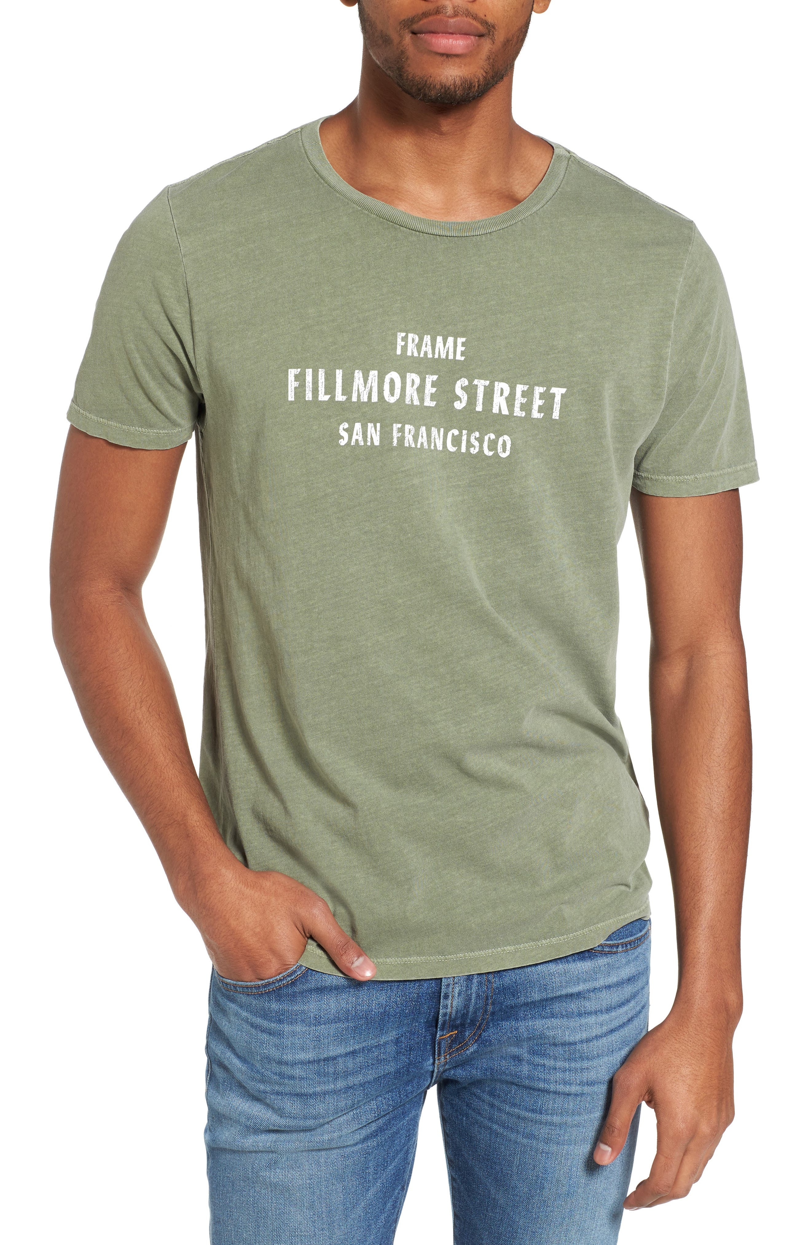 Fillmore Street Vintage Graphic T-Shirt,                         Main,                         color, Army Green