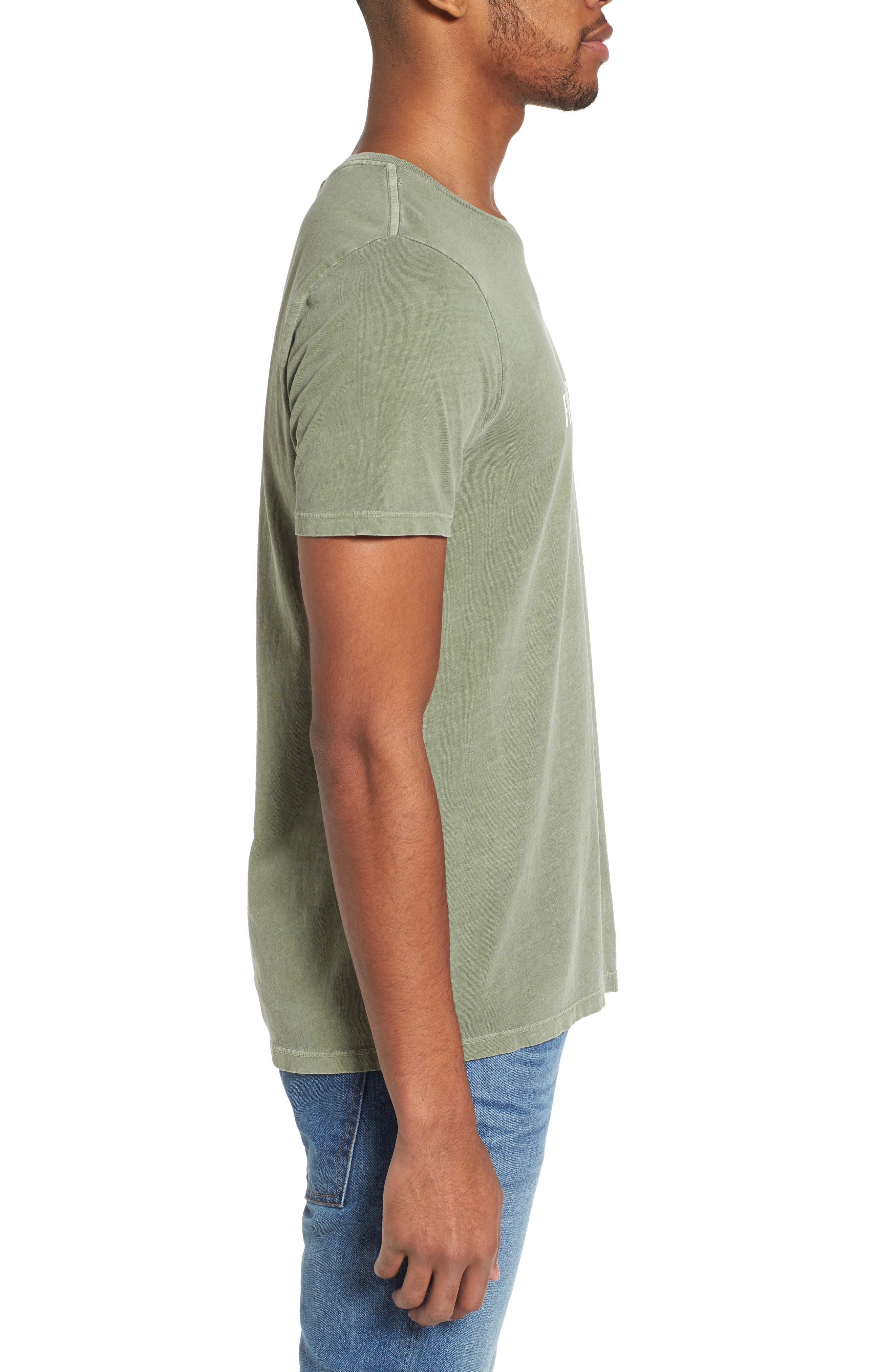 Fillmore Street Vintage Graphic T-Shirt,                             Alternate thumbnail 3, color,                             Army Green