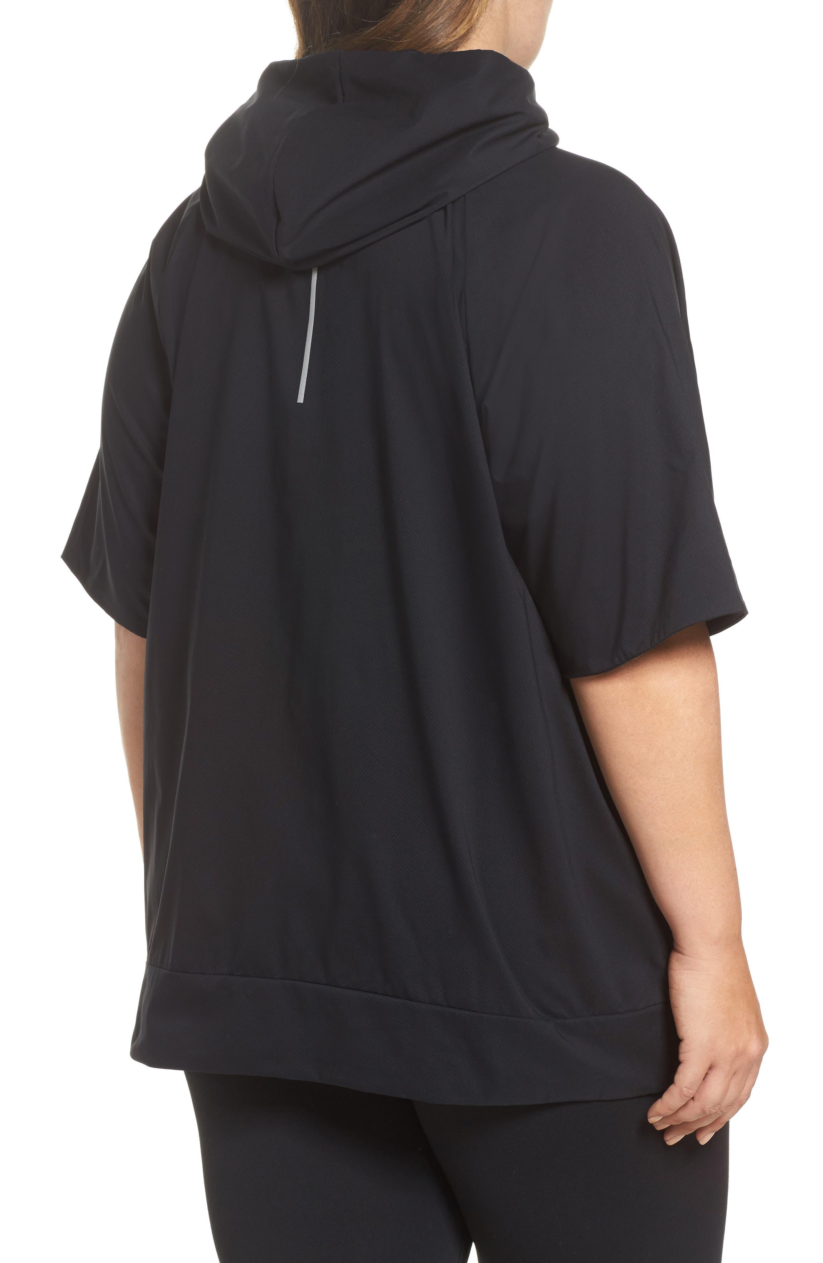 Flex Hooded Running Jacket,                             Alternate thumbnail 2, color,                             Black