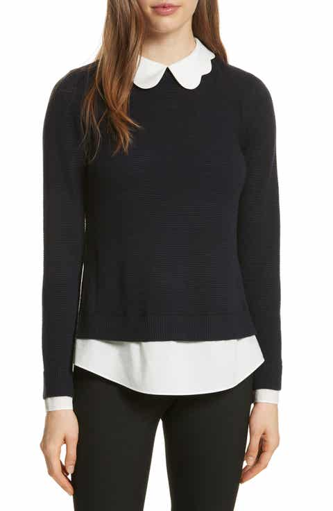 Ted Baker London Scallop Collar Sweater