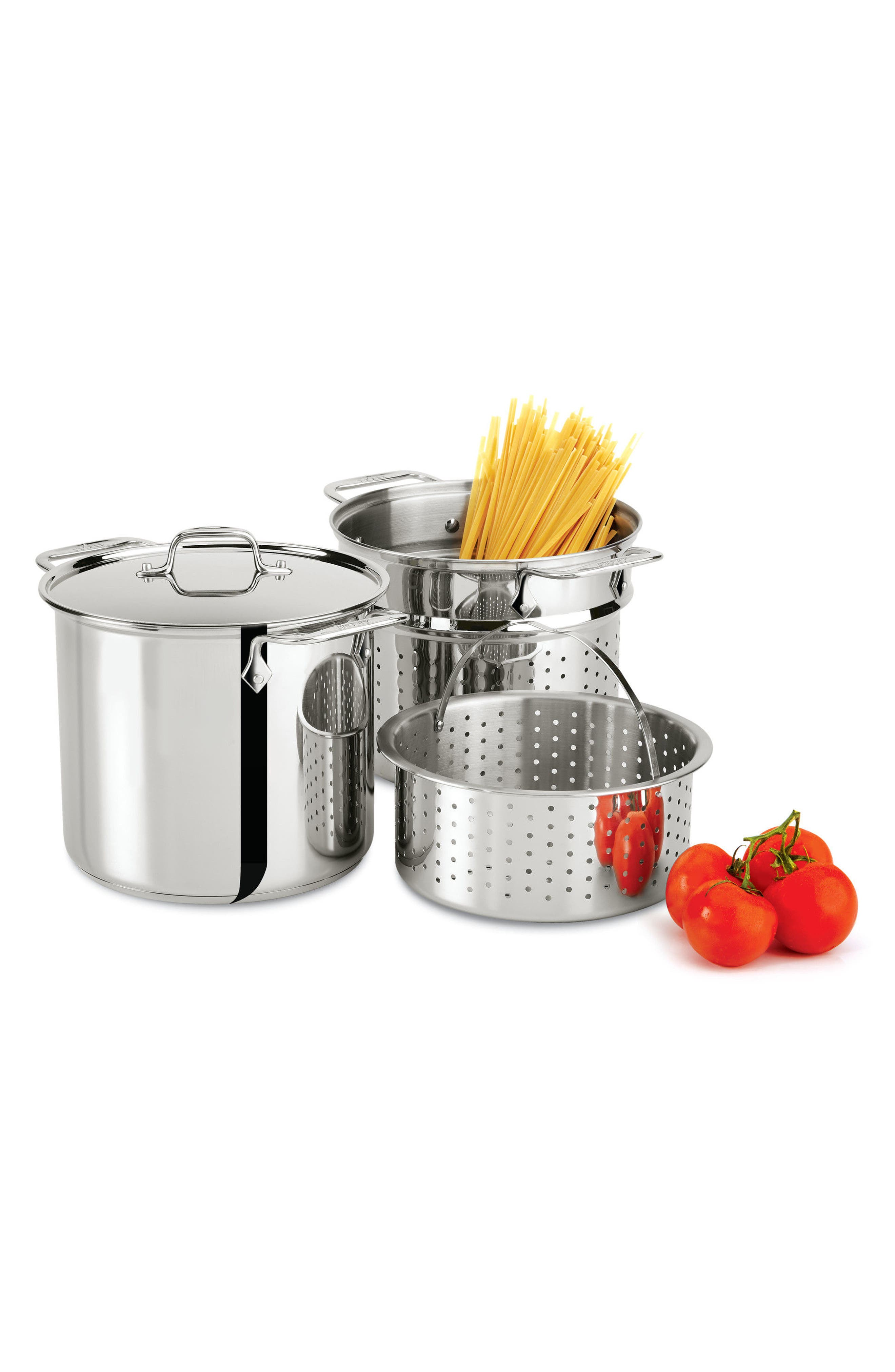 Alternate Image 2  - All-Clad 8-Quart 4-Piece Stainless Steel Multi Cooker