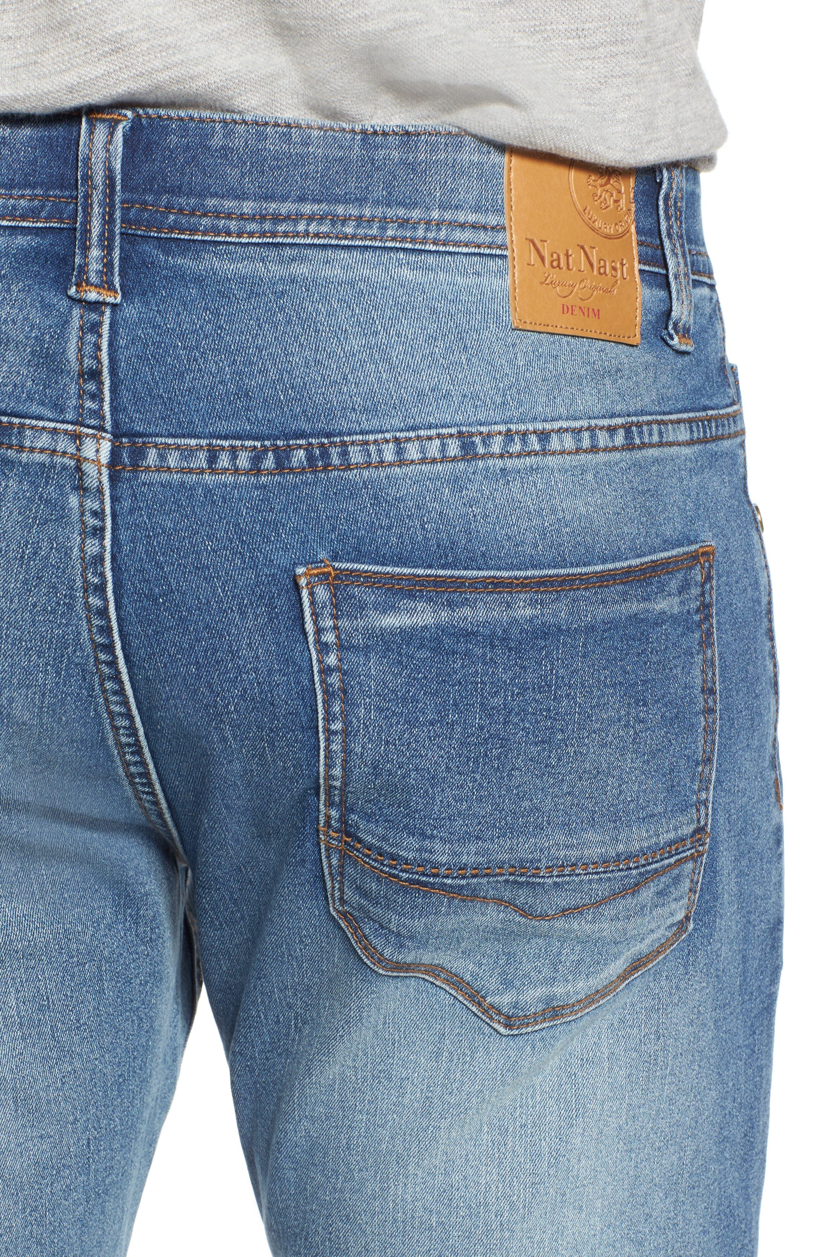 Maverick Stretch Slim Fit Jeans,                             Alternate thumbnail 4, color,                             Beach Wash
