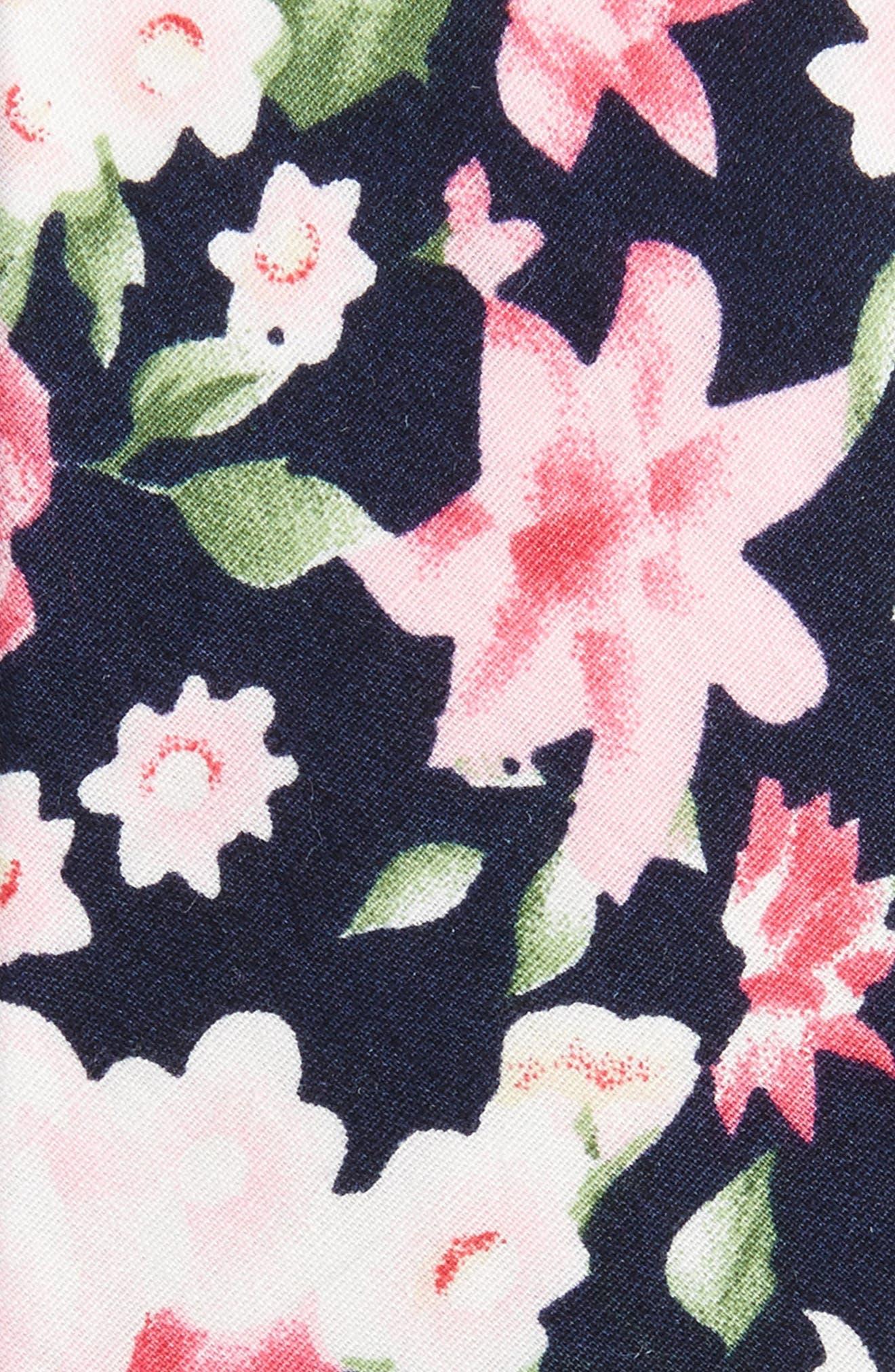 Alternate Image 2  - 1901 Colbert Floral Cotton Skinny Tie