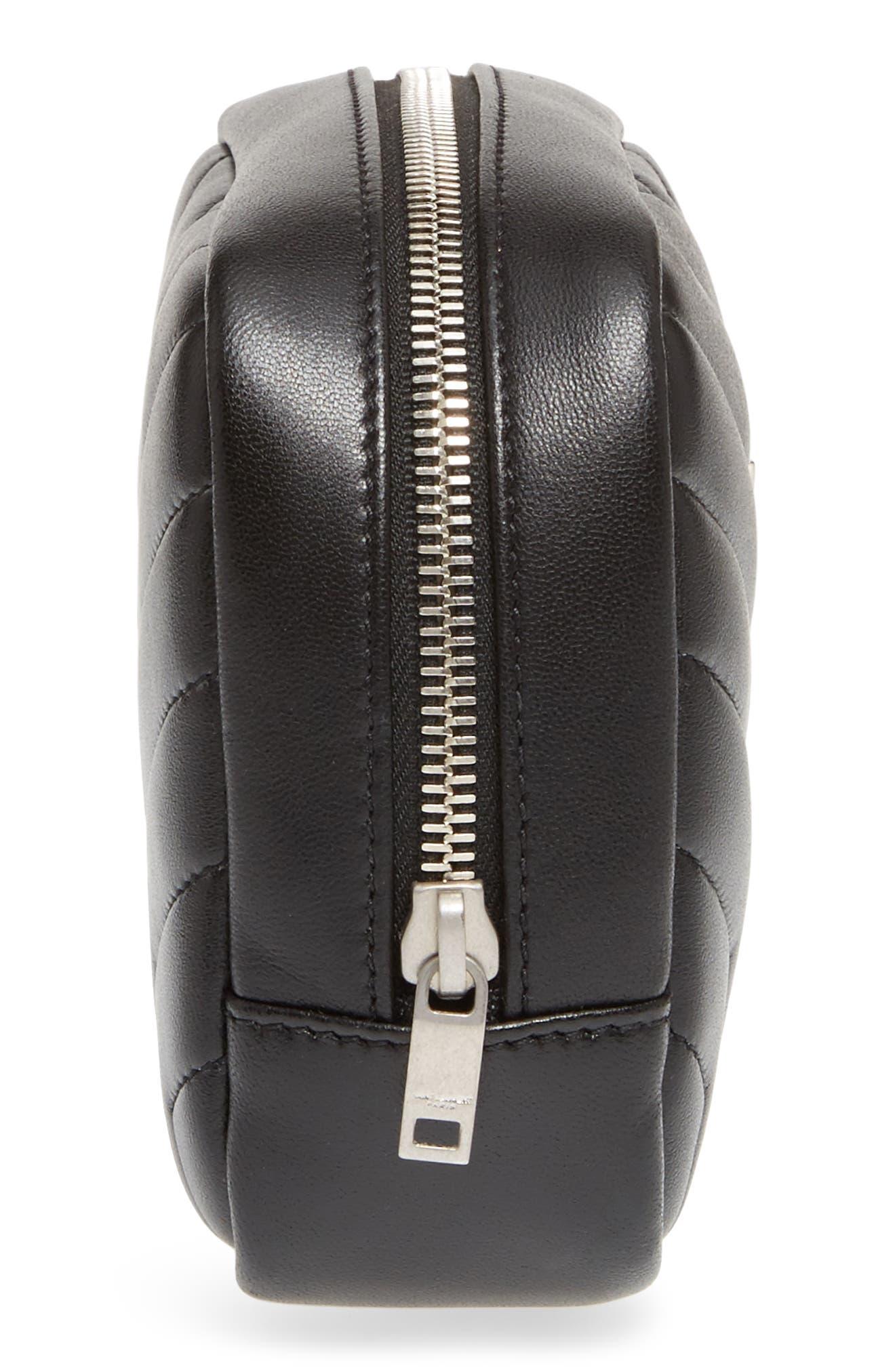 Alternate Image 4  - Saint Laurent Loulou Matelassé Leather Cosmetics Case