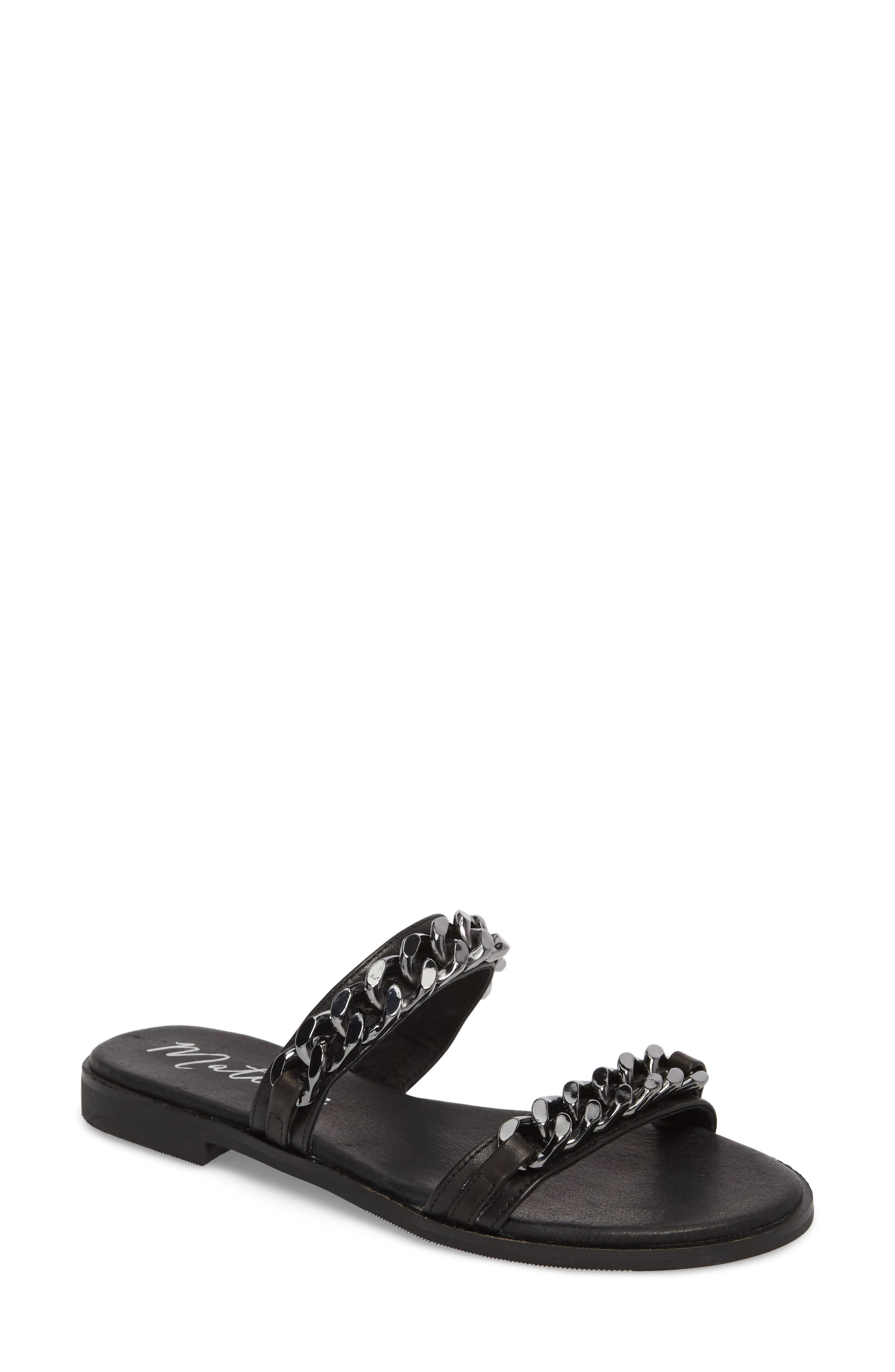 Reagon Sandal,                             Main thumbnail 1, color,                             Black Leather