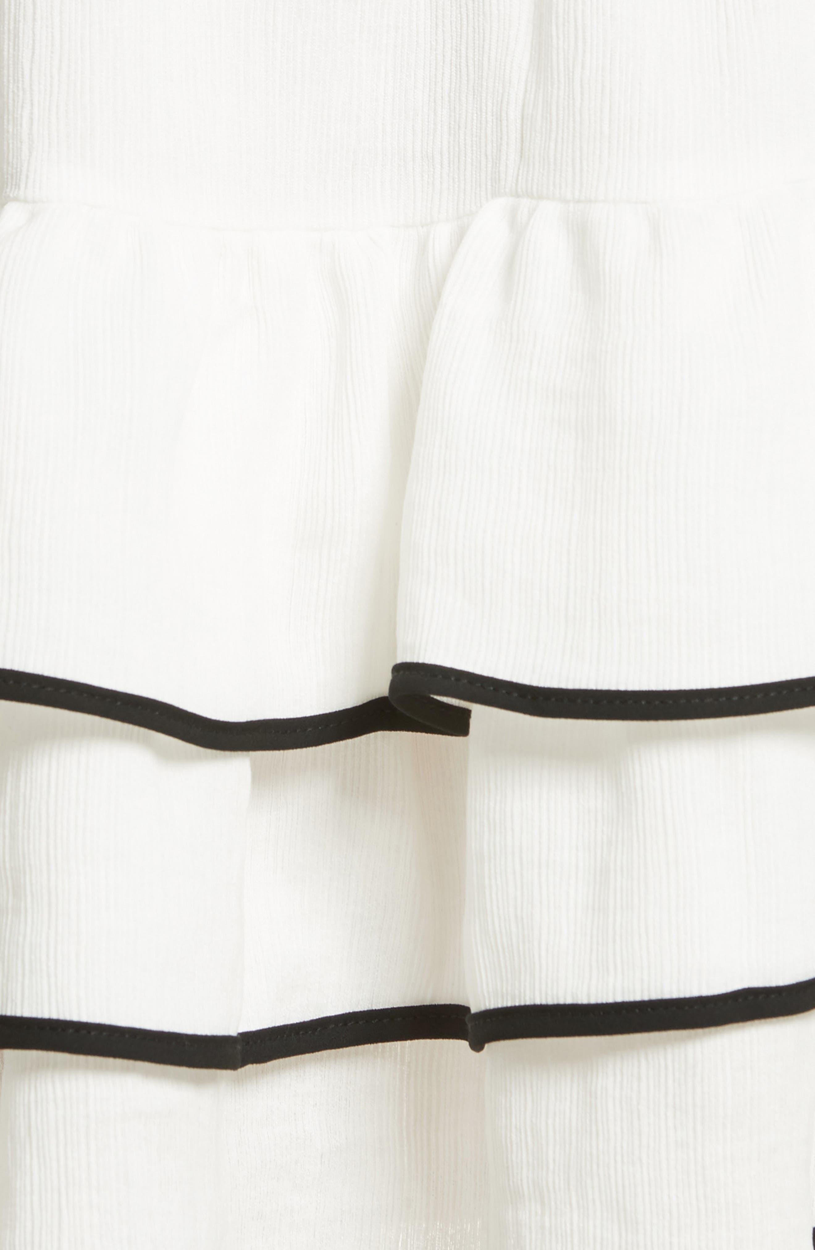 Prose & Poetry Carice Ruffle Miniskirt,                             Alternate thumbnail 5, color,                             Alabaster