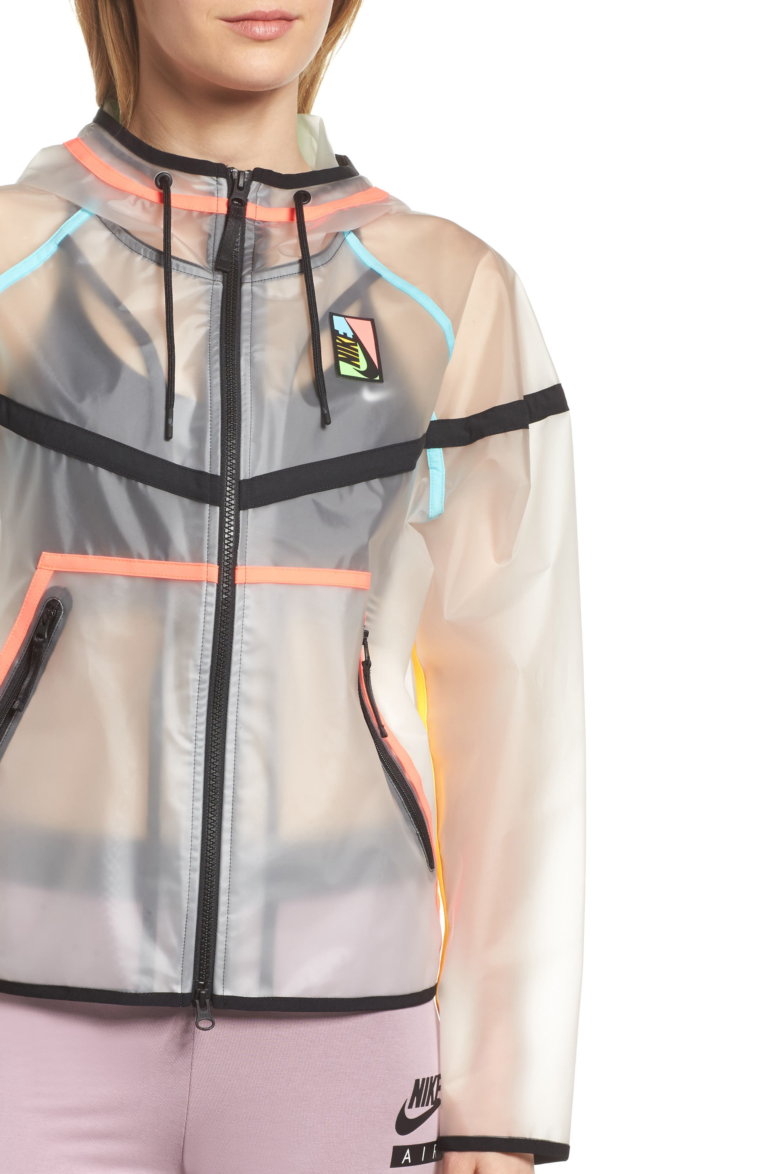 NikeLab Collection Ghost Windrunner Women's Jacket,                             Alternate thumbnail 4, color,                             Clear