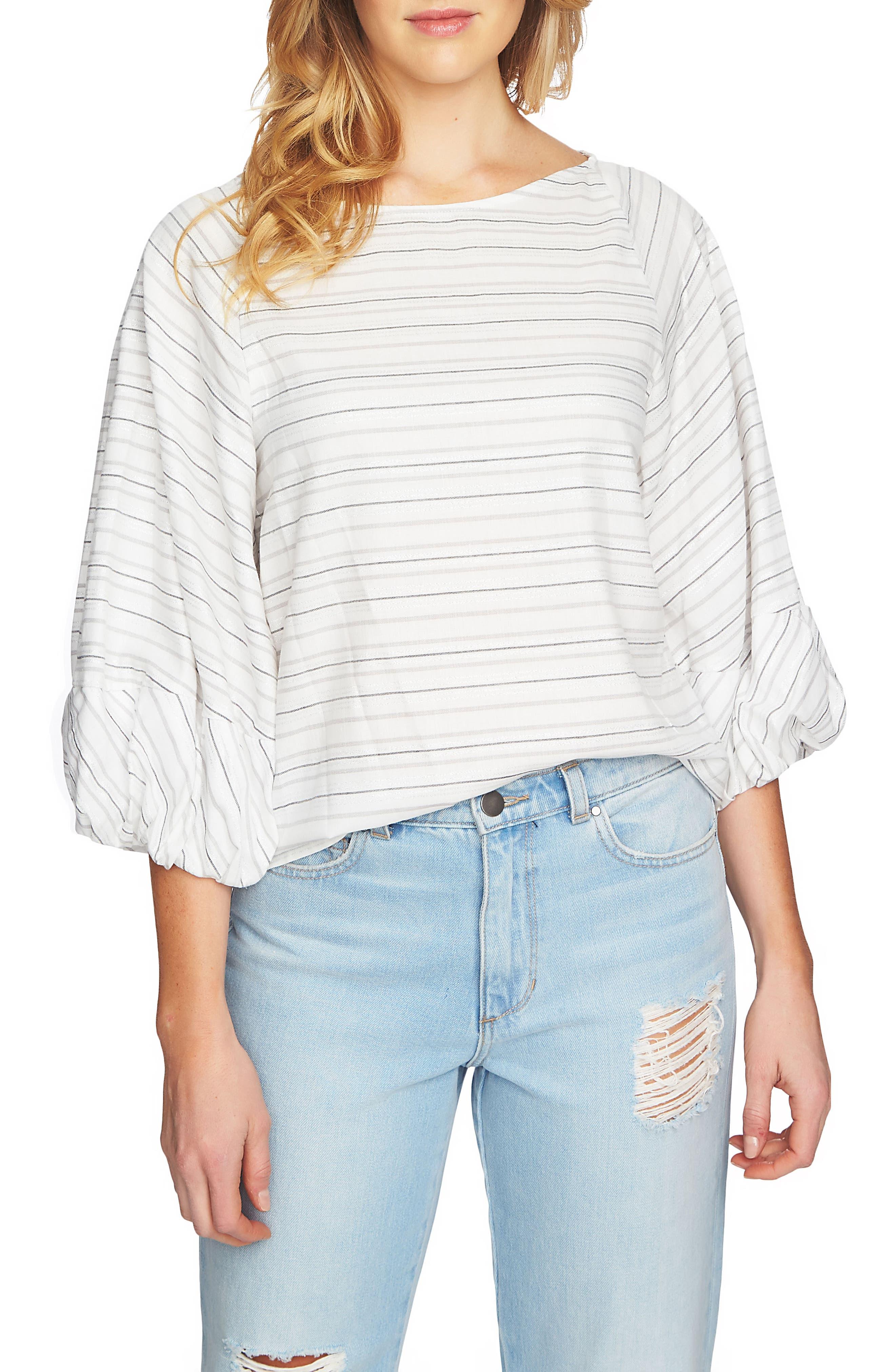 Stripe Top,                         Main,                         color, Soot Grey