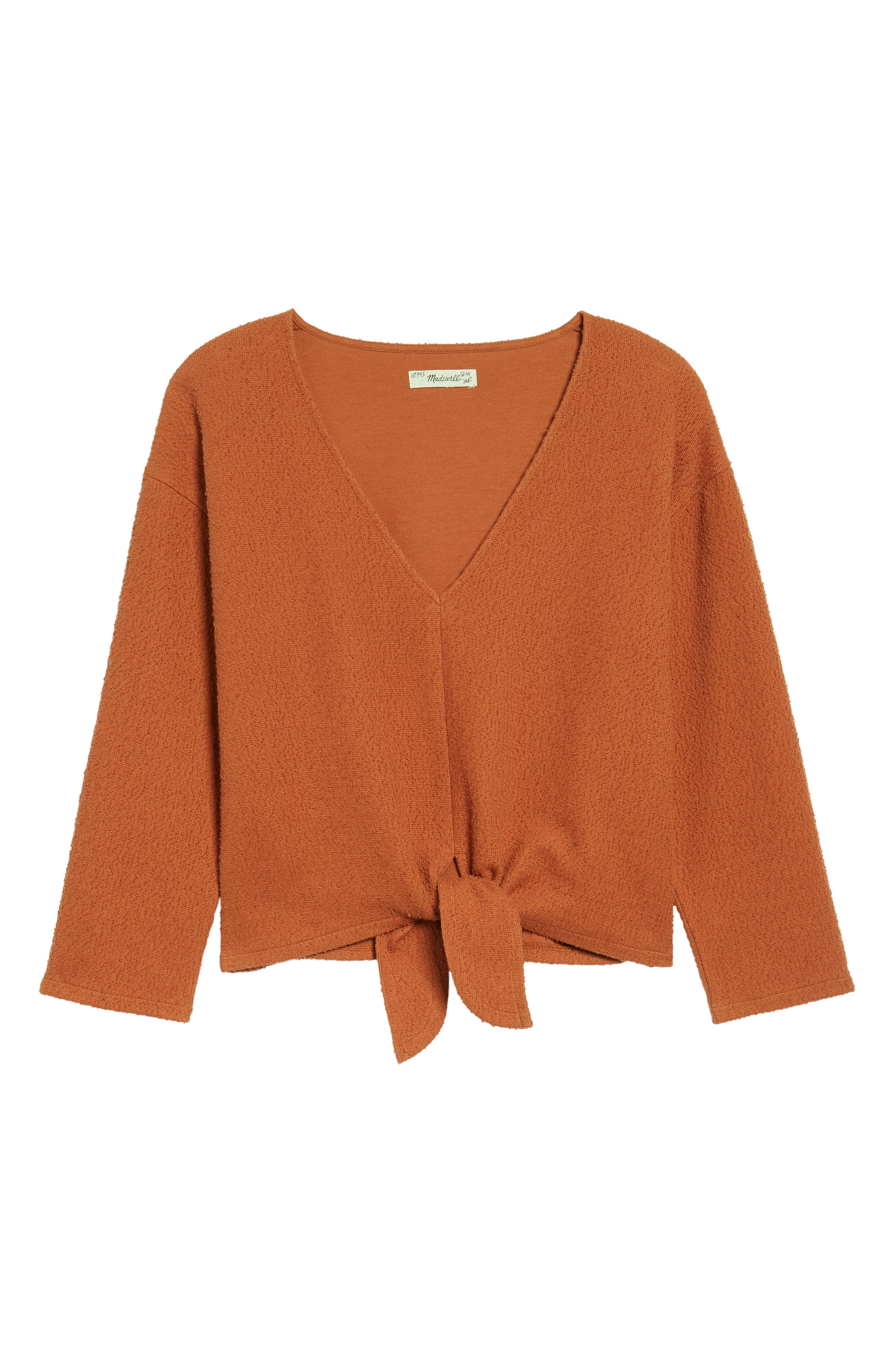 Main Image - Madewell Textured Tie Front Top