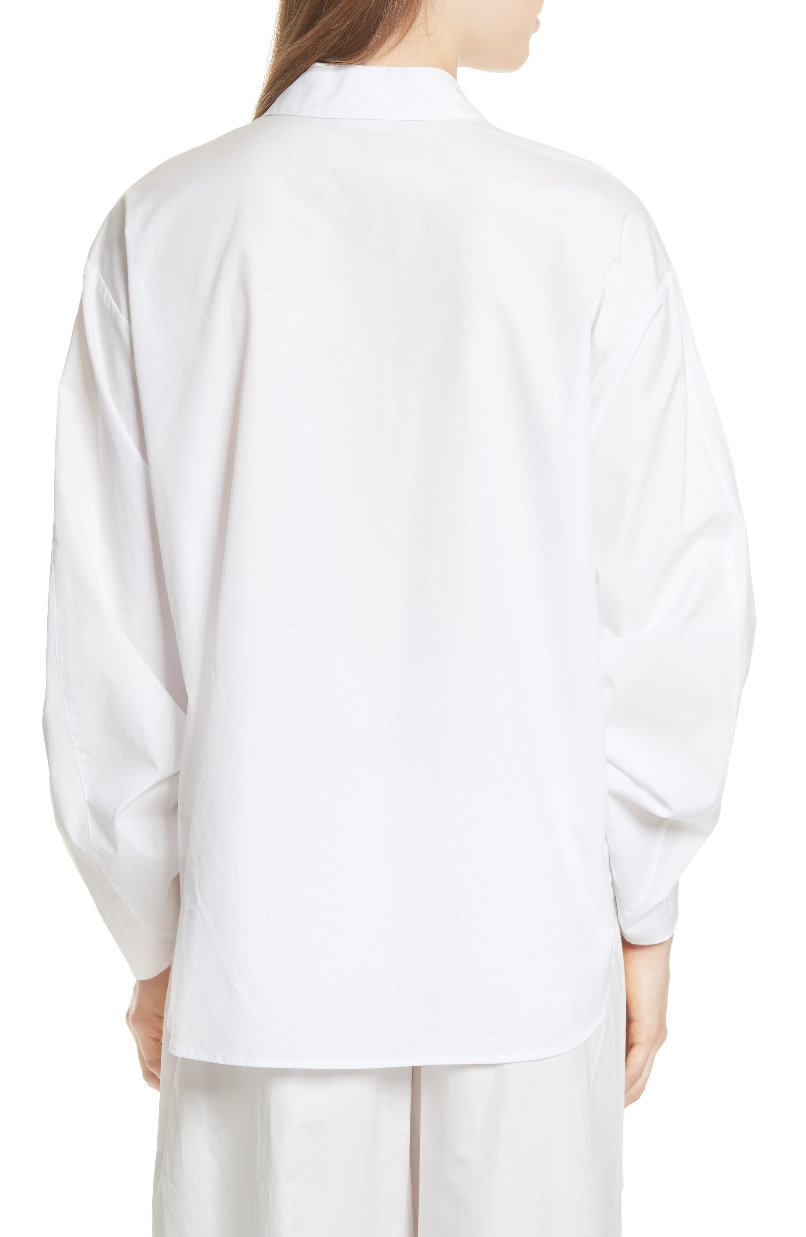 Cinch Sleeve Top,                             Alternate thumbnail 2, color,                             Optic White