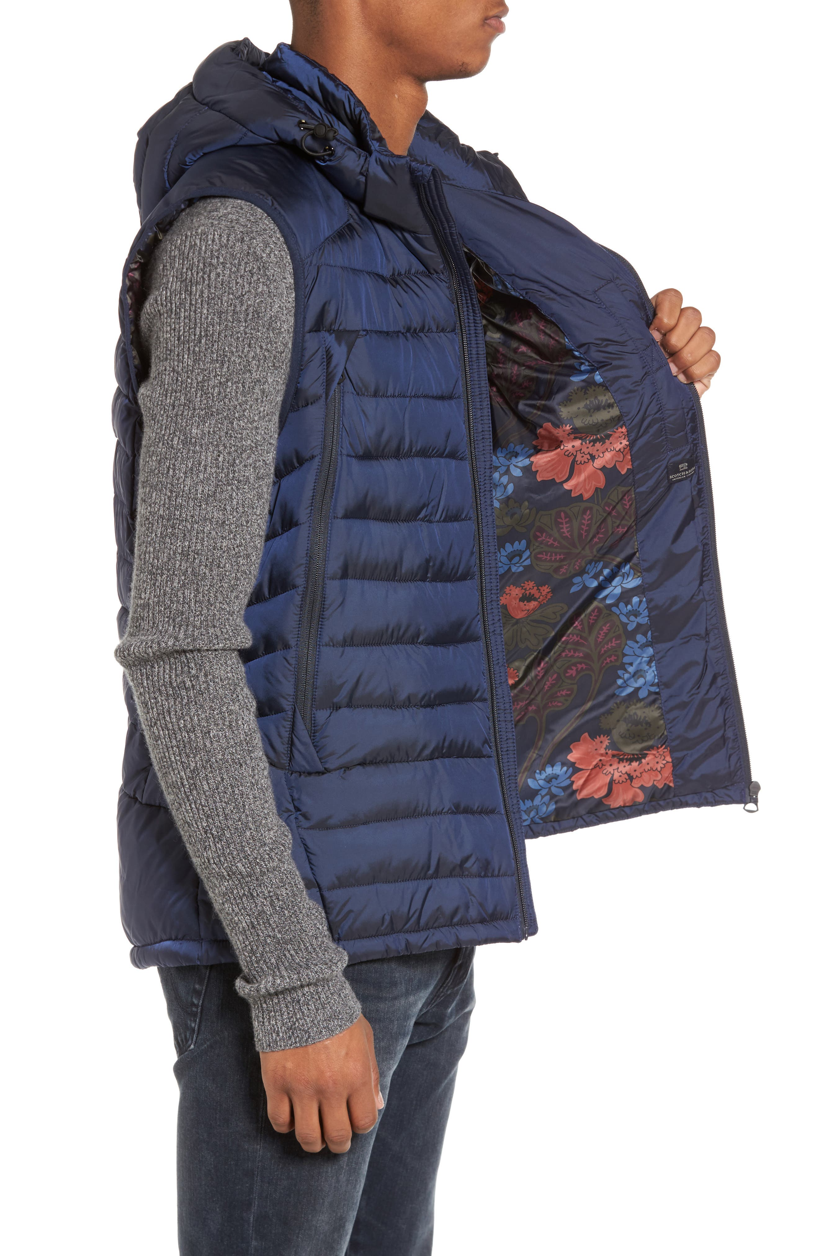 Quilted Vest,                             Alternate thumbnail 3, color,                             Night