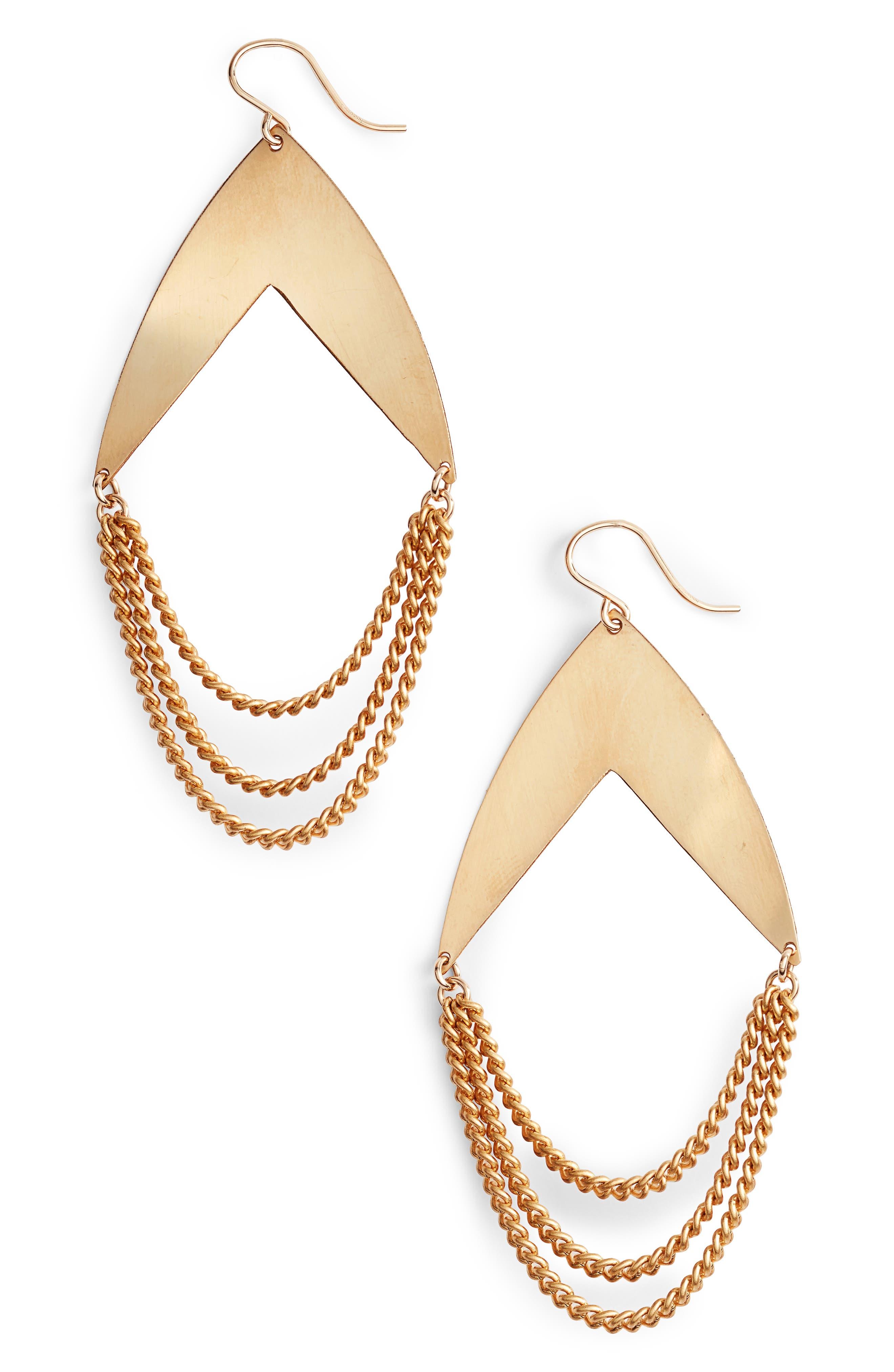 Dusk Soul Earrings,                         Main,                         color, Gold