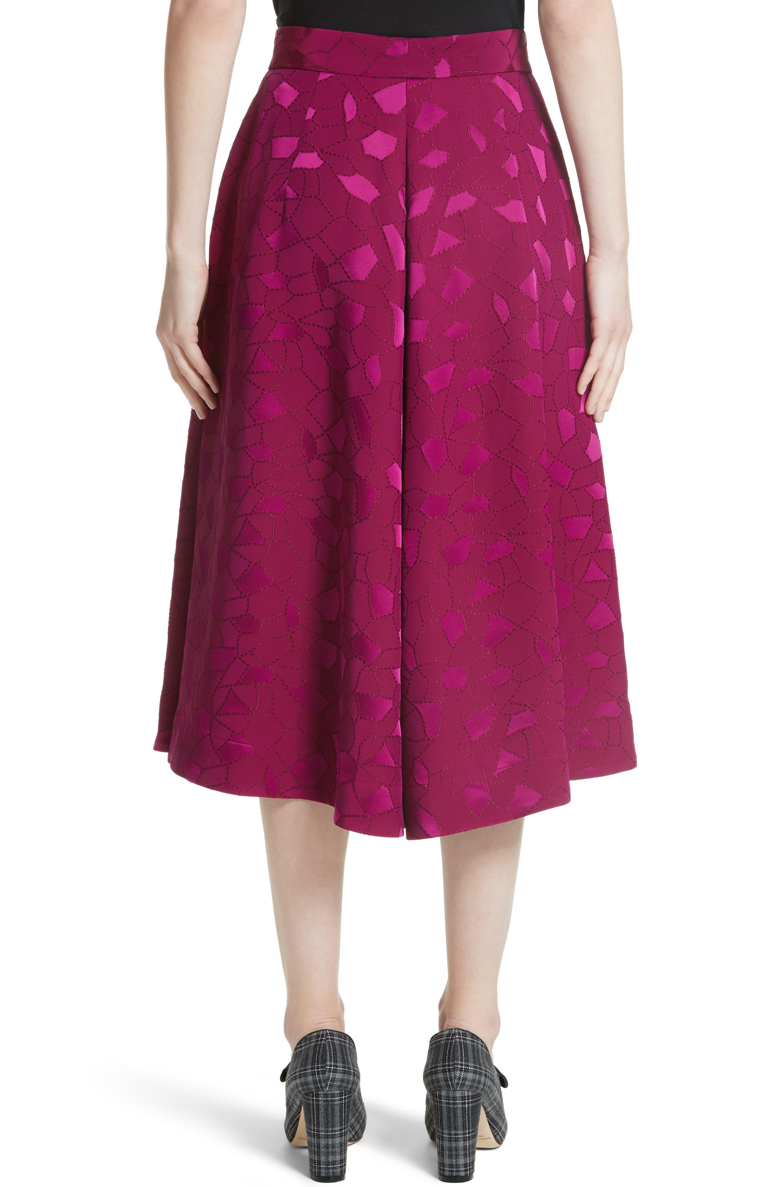 Mosaic Jacquard Midi Skirt,                             Alternate thumbnail 2, color,                             Pink