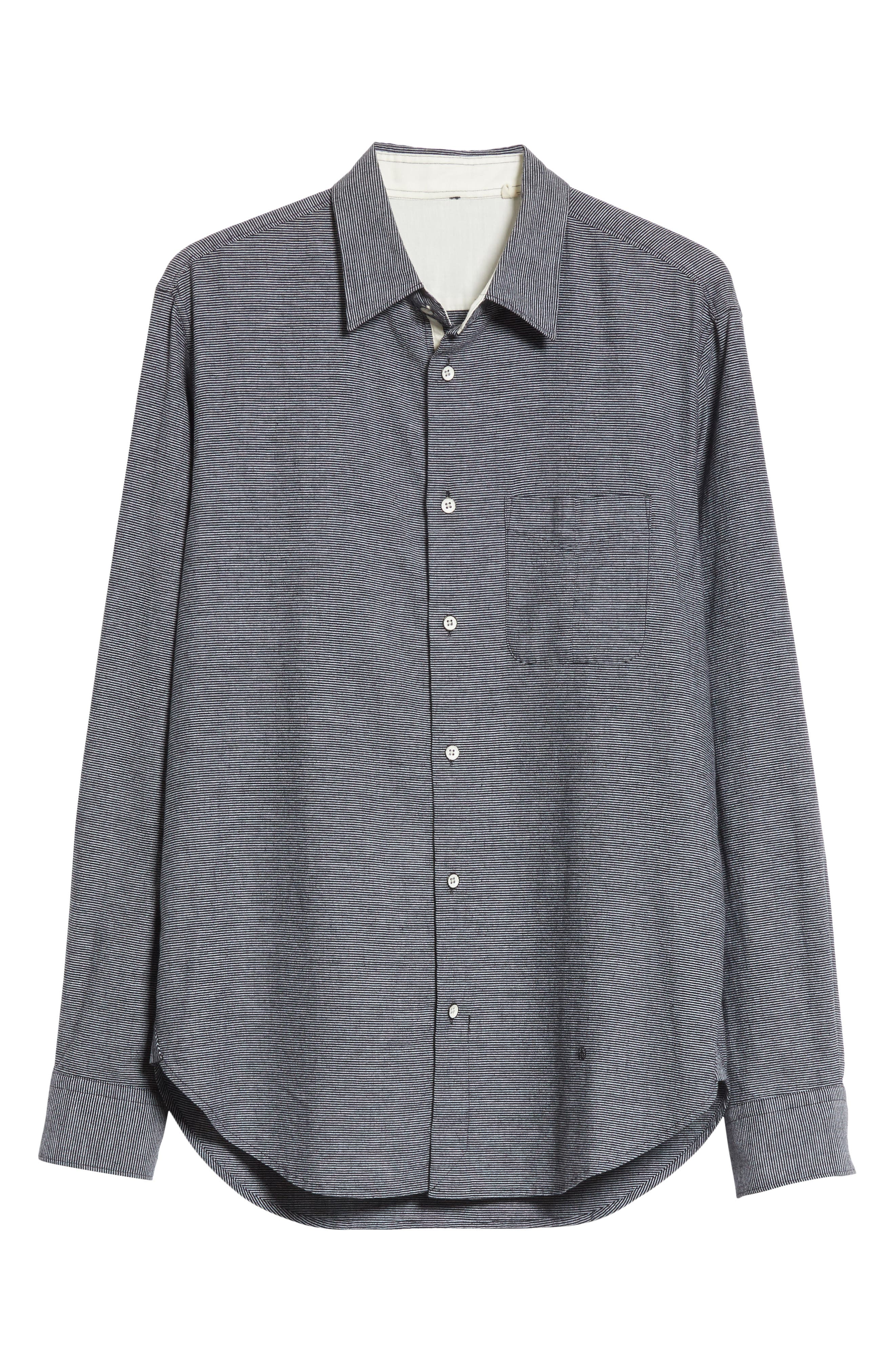 fit 3 Beach Stripe Shirt,                             Alternate thumbnail 6, color,                             Stripe