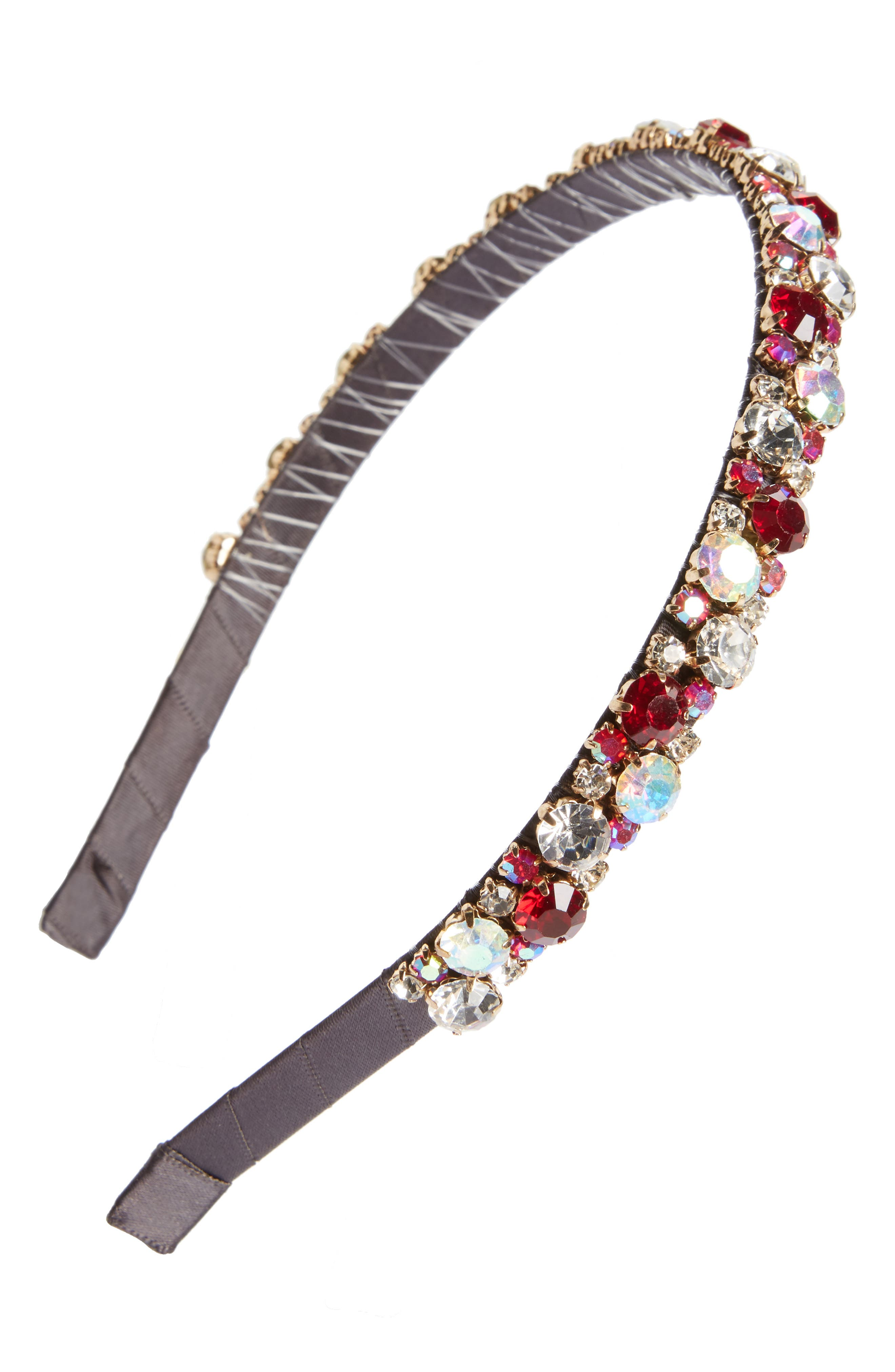 Sweet Embellished Headband,                         Main,                         color, Red Multi