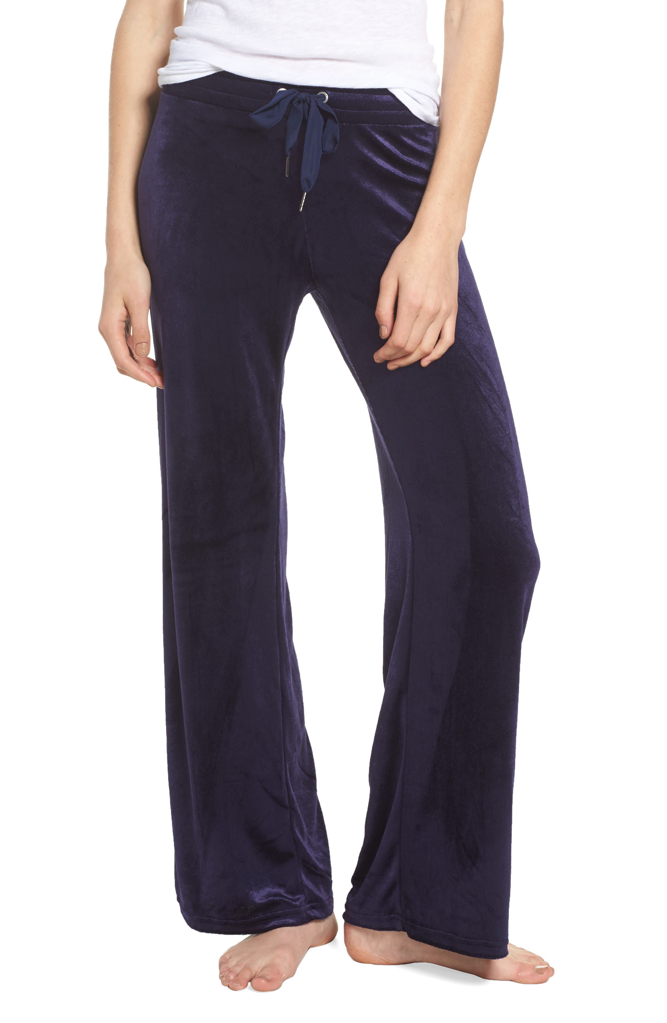 Alternate Image 1 Selected - Make + Model Paris Wide Leg Velour Pants