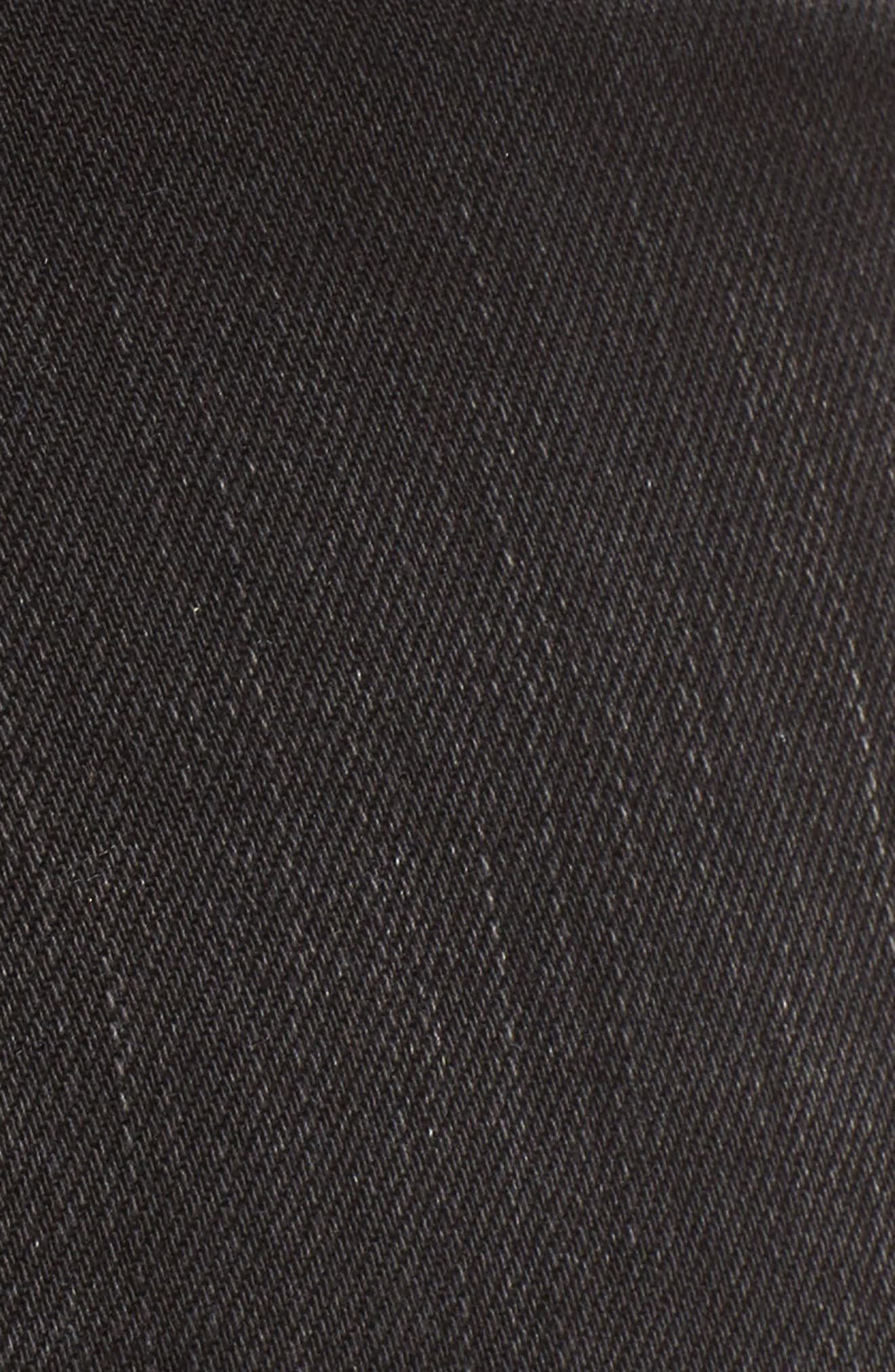 Harlets Cuffed Denim Shorts,                             Alternate thumbnail 5, color,                             Superstar Black