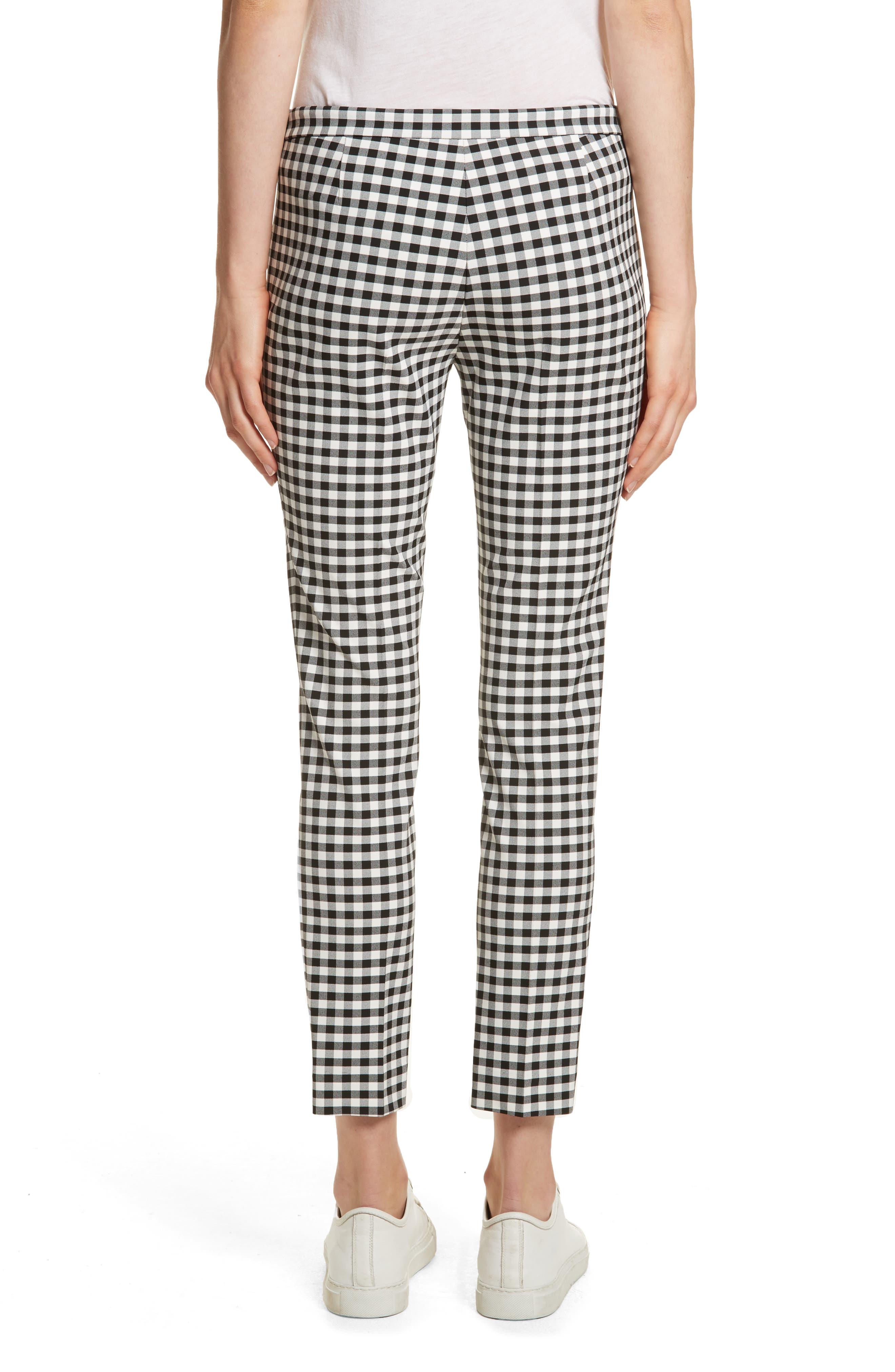 Gingham Classic Skinny Pants,                             Alternate thumbnail 2, color,                             Black/ White