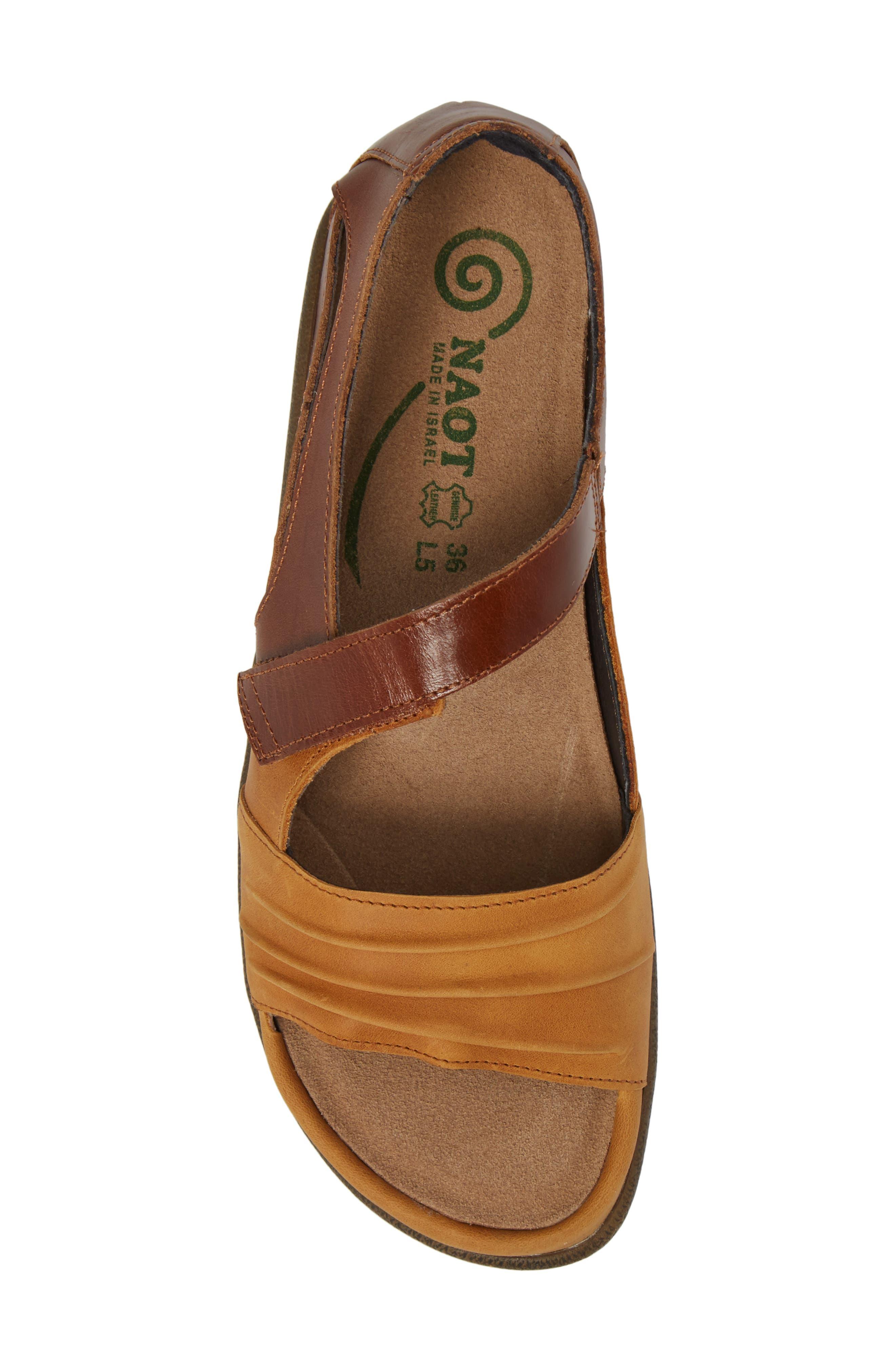 'Papaki' Sandal,                             Alternate thumbnail 5, color,                             Oily Dune Nubuck