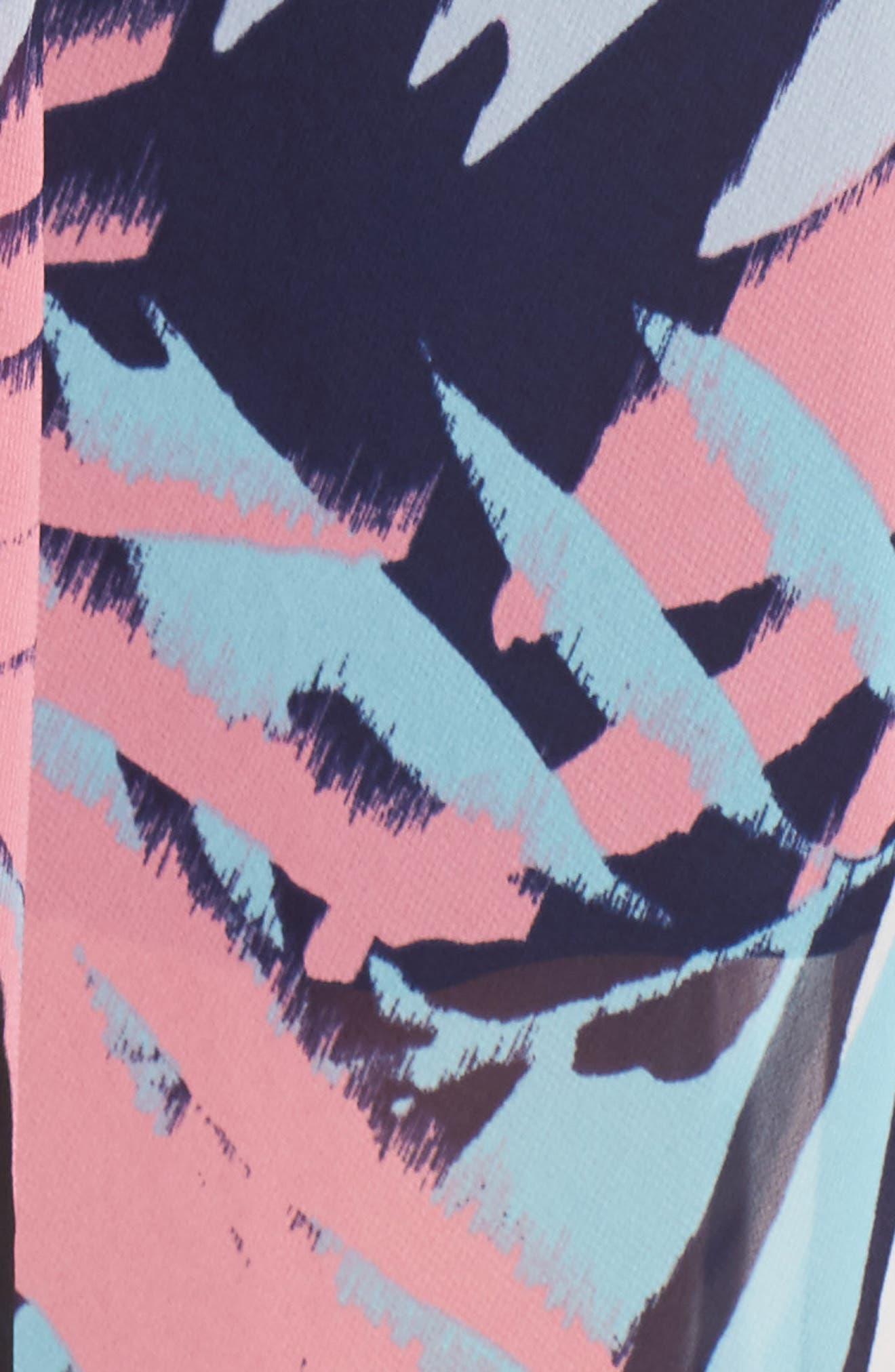 Asymmetrical Neck Maxi Dress,                             Alternate thumbnail 5, color,                             Navy Multi