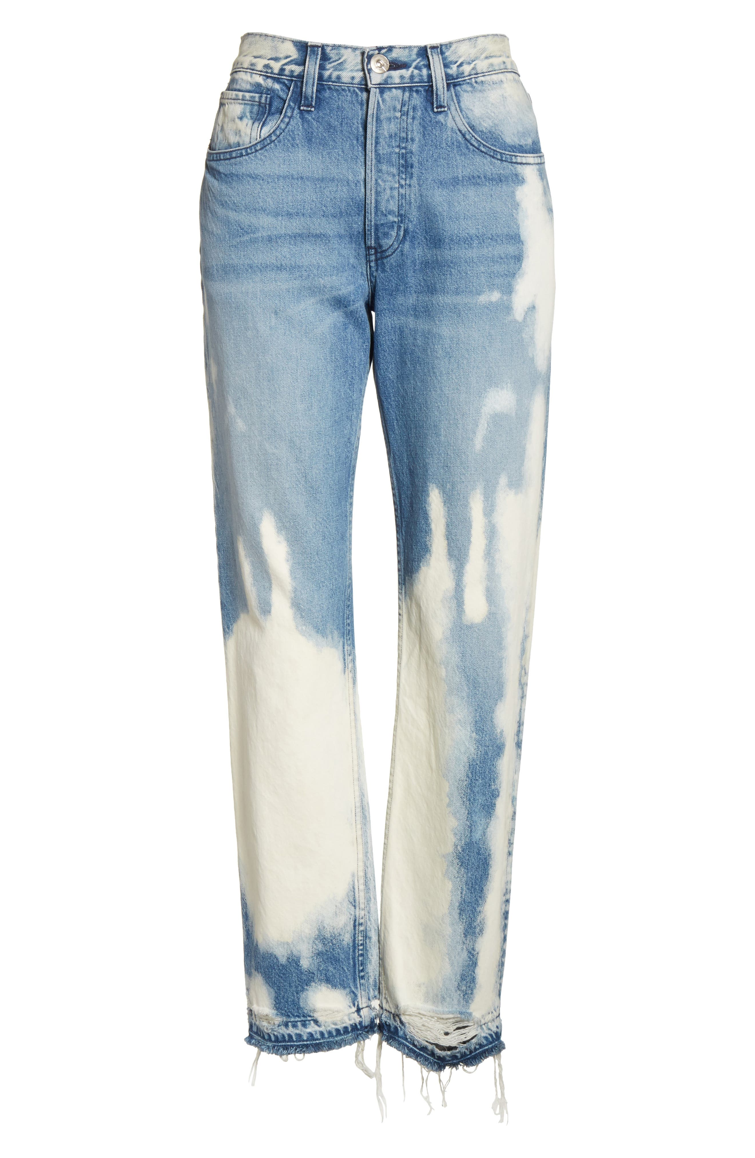 W3 Higher Ground Bleached Ankle Slim Fit Jeans,                             Alternate thumbnail 7, color,                             Marble