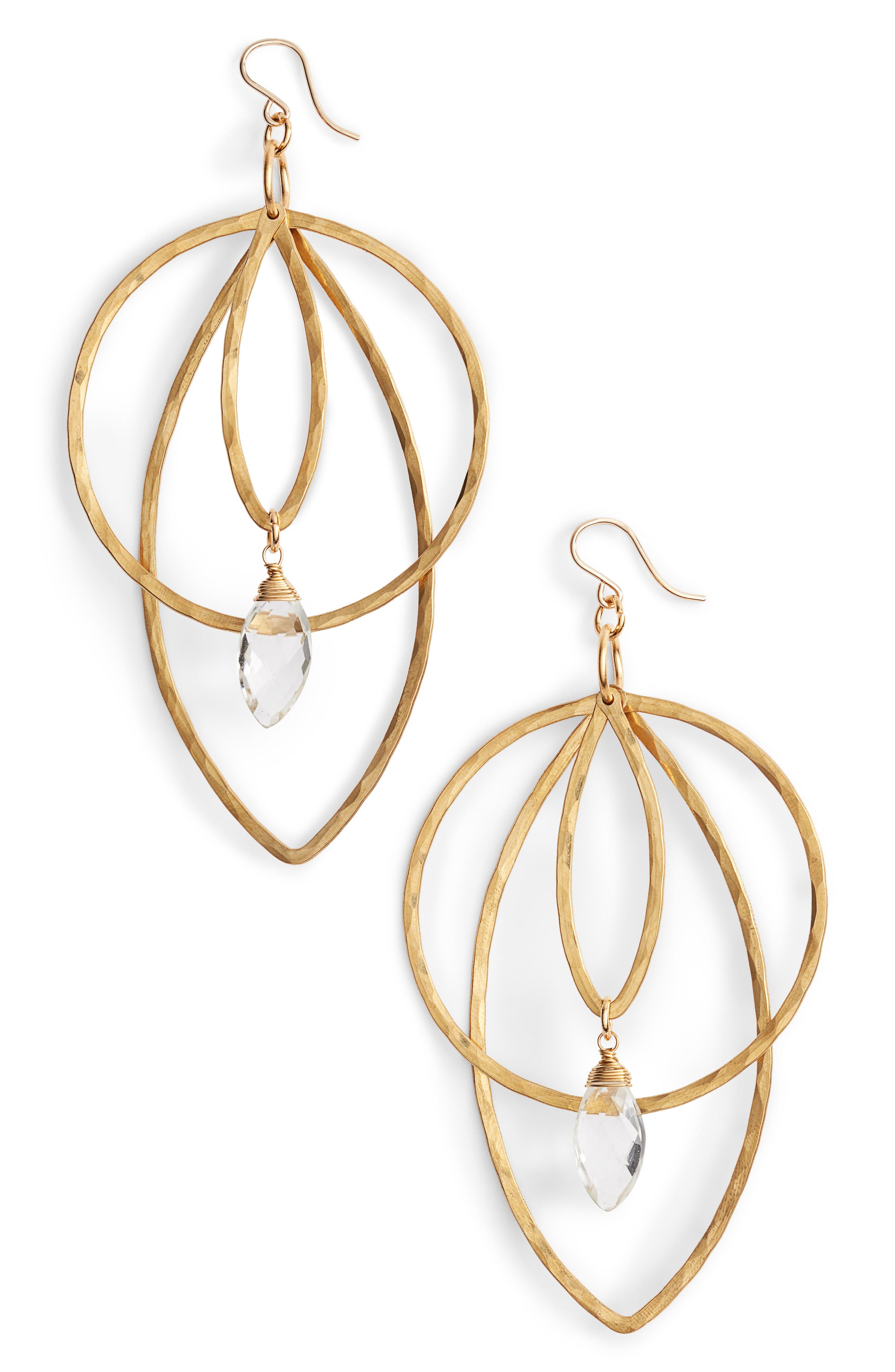 Superstar Soul Statement Earrings,                         Main,                         color, Gold- Crystal
