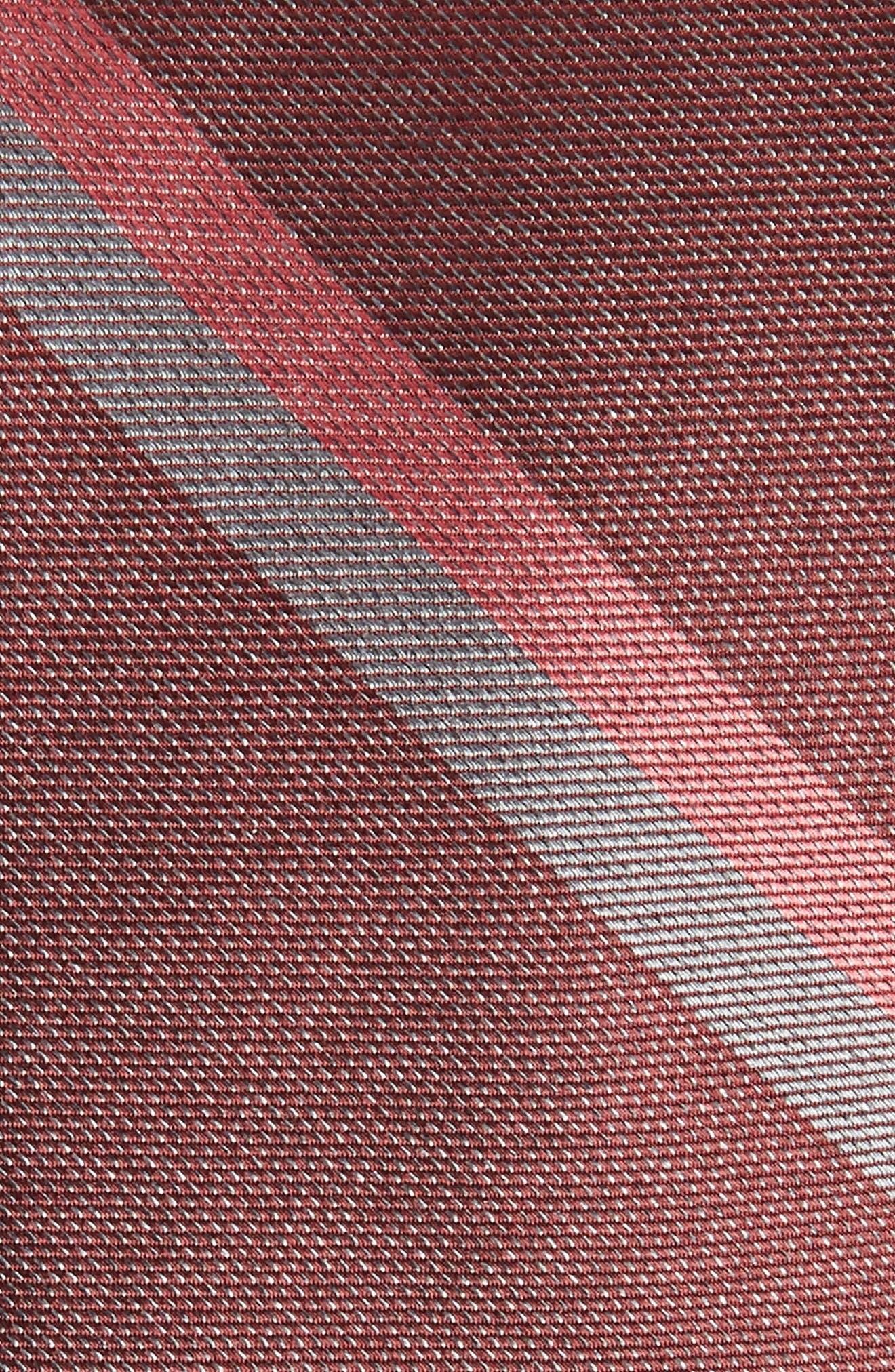 Stripe Silk Skinny Tie,                             Alternate thumbnail 2, color,                             Burgundy
