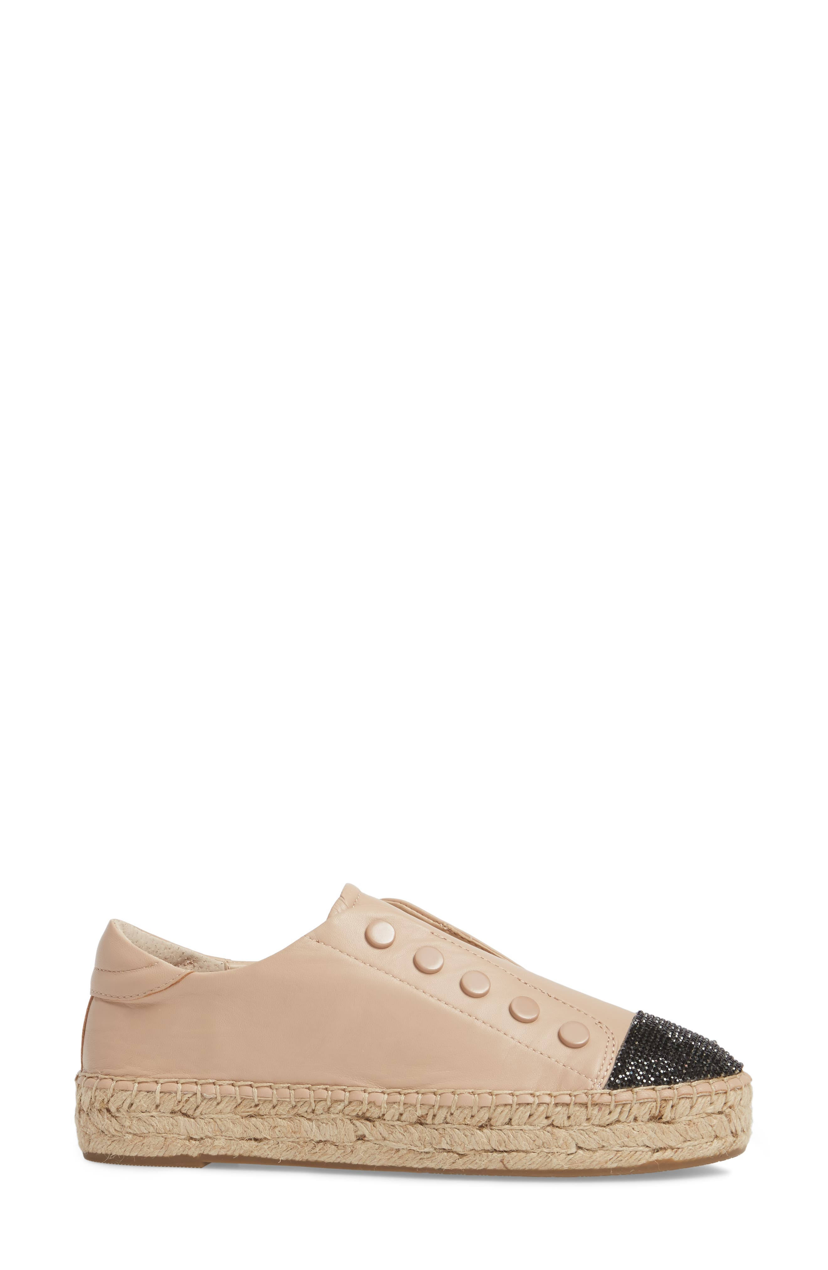 Juniper Espadrille Sneaker,                             Alternate thumbnail 3, color,                             Light Latte