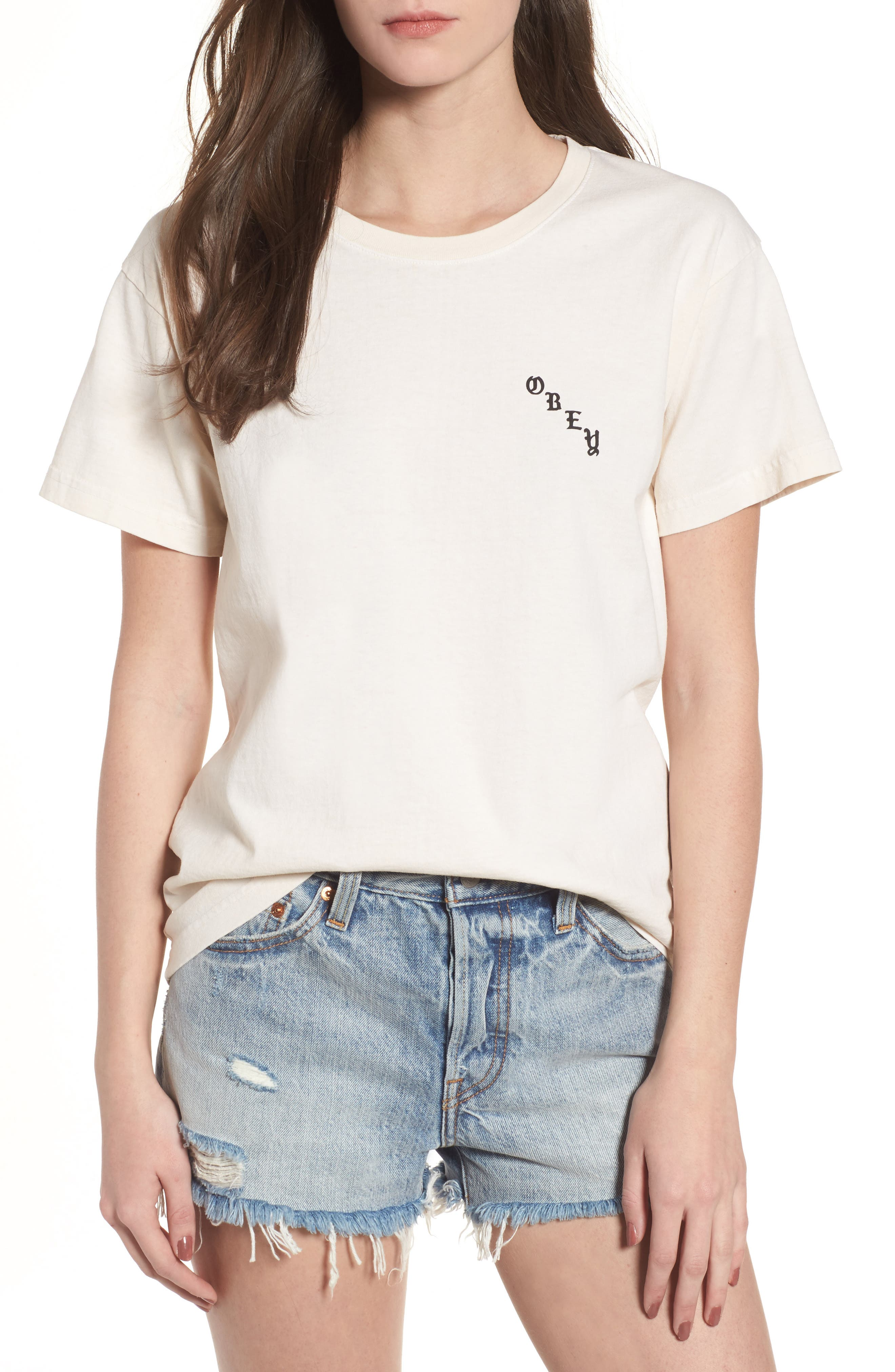 Slauson Rose Graphic Tee,                             Main thumbnail 1, color,                             Creme