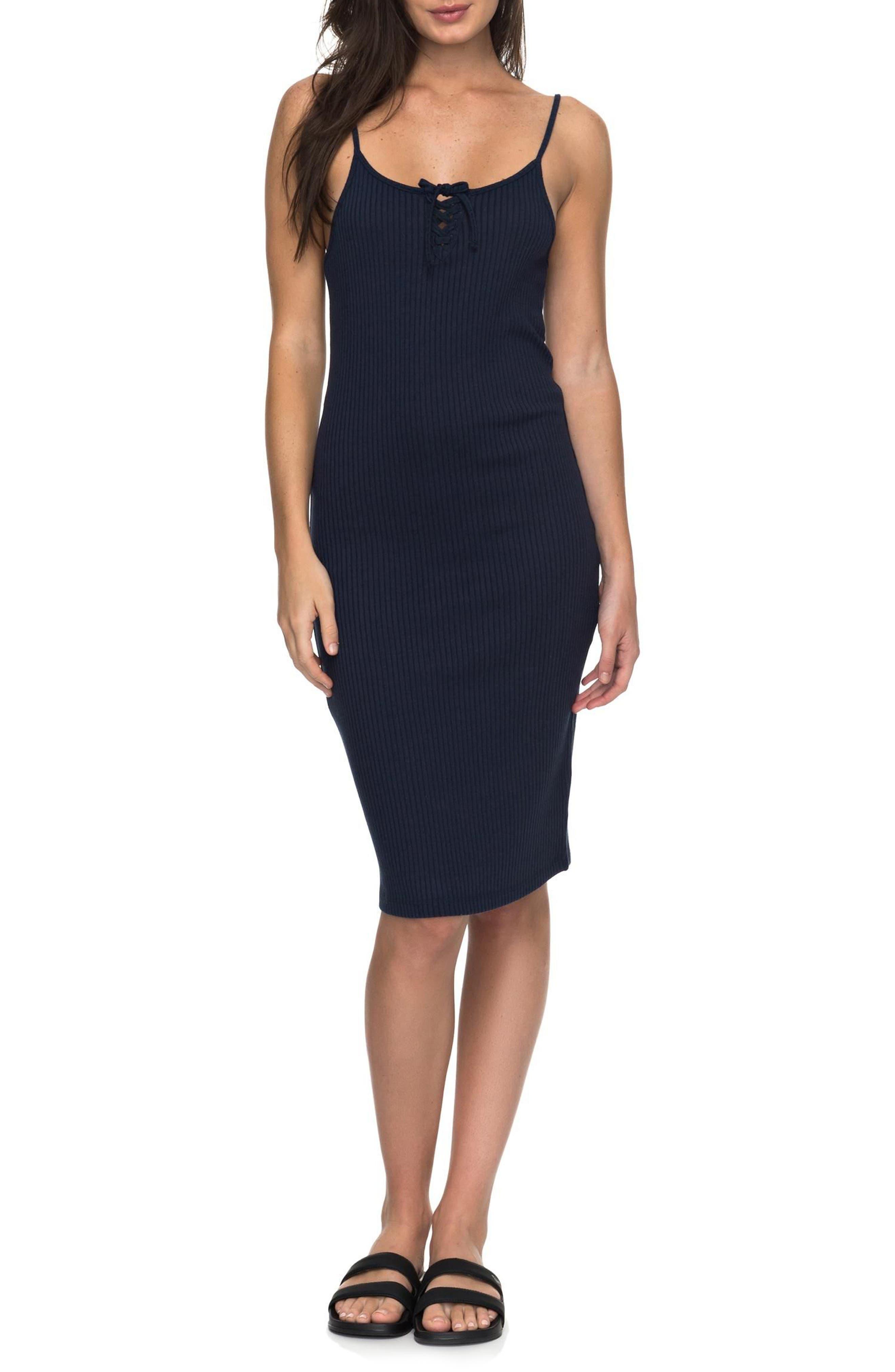 Main Image - Roxy Happy New Way Body-Con Midi Dress