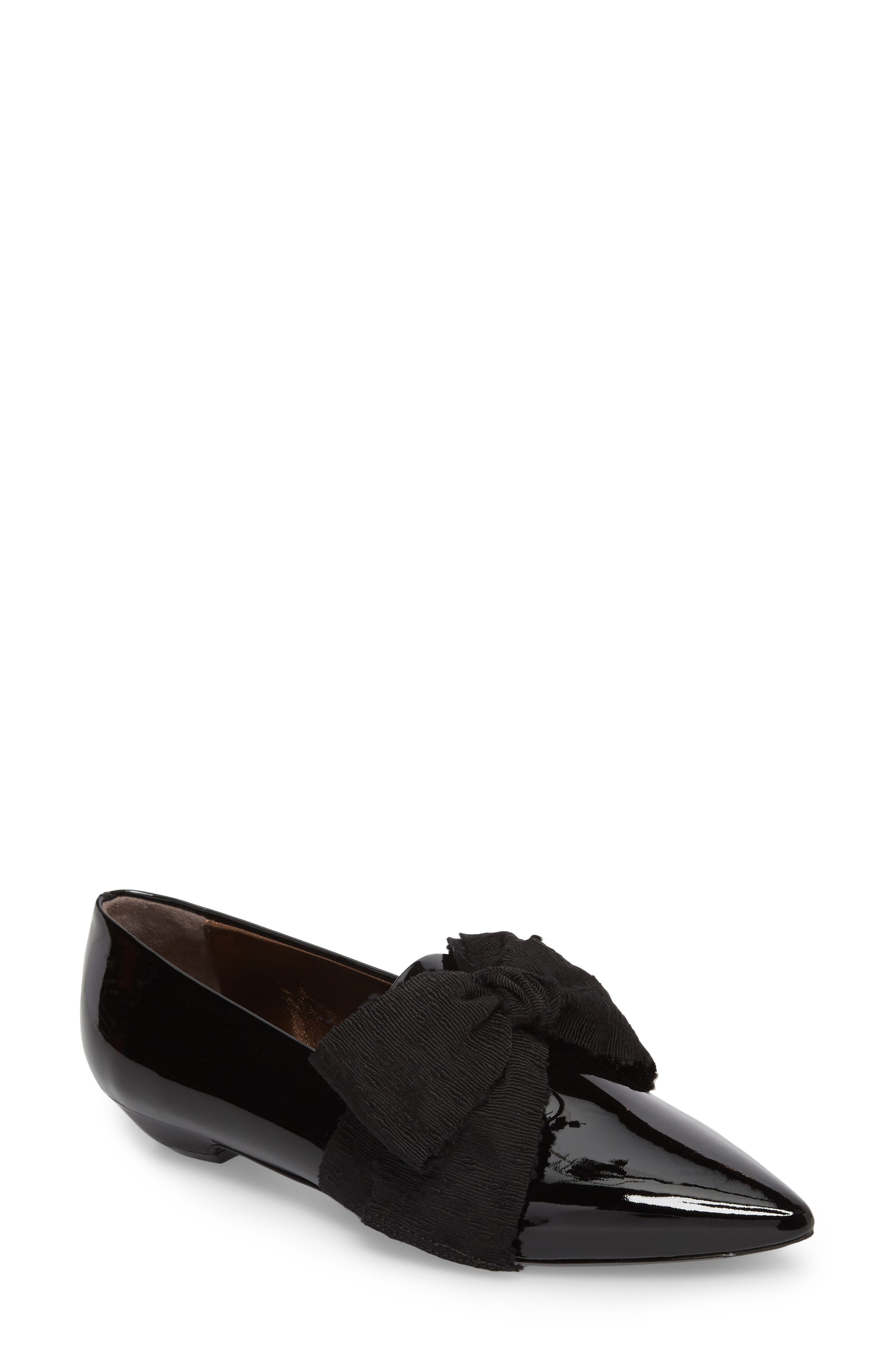Maggie Bow Loafer,                         Main,                         color, Black Patent