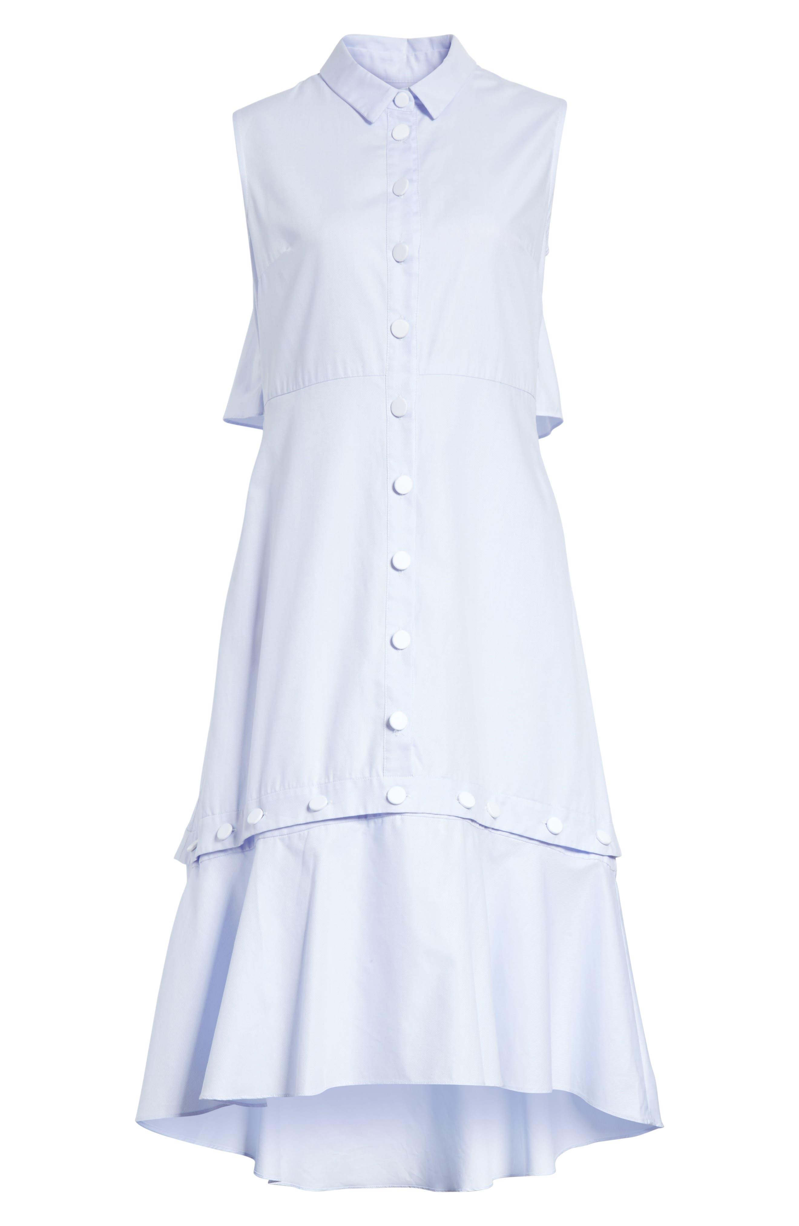 Prose & Poetry Rosen Midi Shirtdress,                             Alternate thumbnail 6, color,                             Bubble Blue
