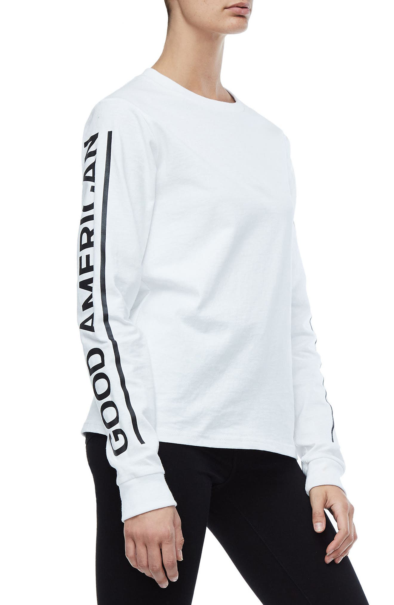 Goodies Long Sleeve Graphic Tee,                             Alternate thumbnail 4, color,                             White001